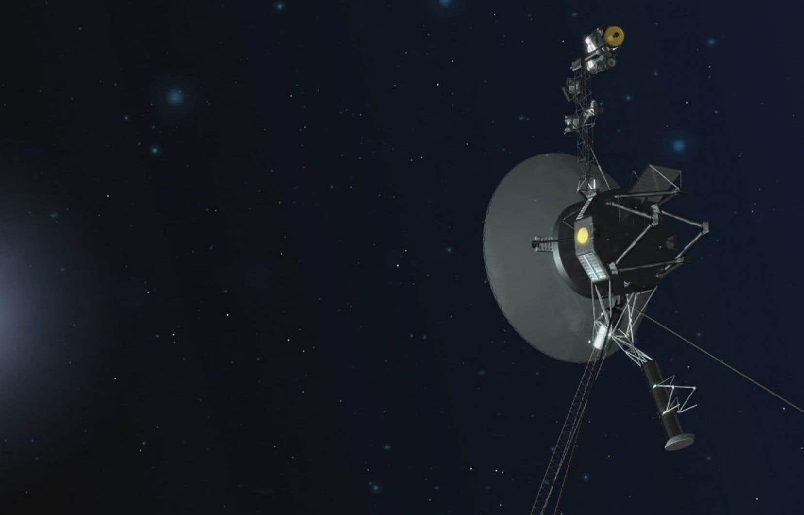 Représentation artistique de l'un des vaisseaux spatiaux Voyager