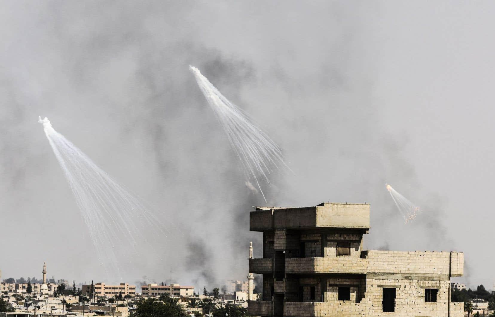 Des frappes aériennes de la coalition internationale ont également touché la province voisine, à Raqqa, en juin dernier.