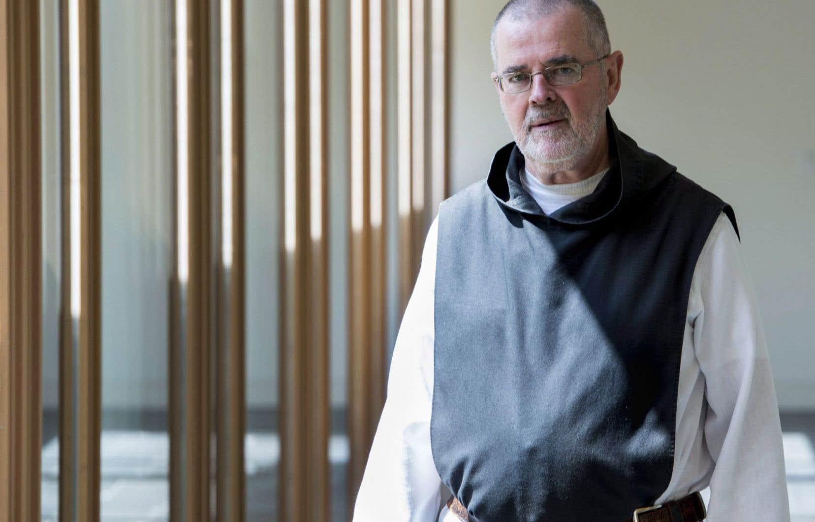 Le frère Lucien, moine trappiste à l'abbaye Val Notre-Dame de Saint-Jean-de-Matha