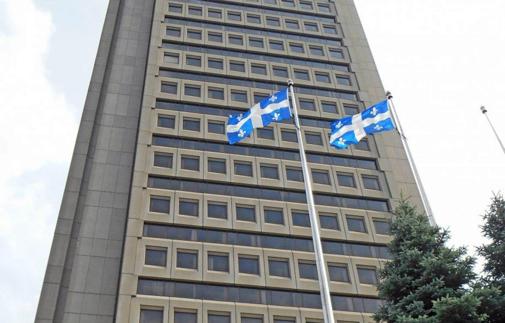 L'édifice Marie-Guyart, à Québec, accueille notamment les ministères de l'Éducation et de l'Environnement.