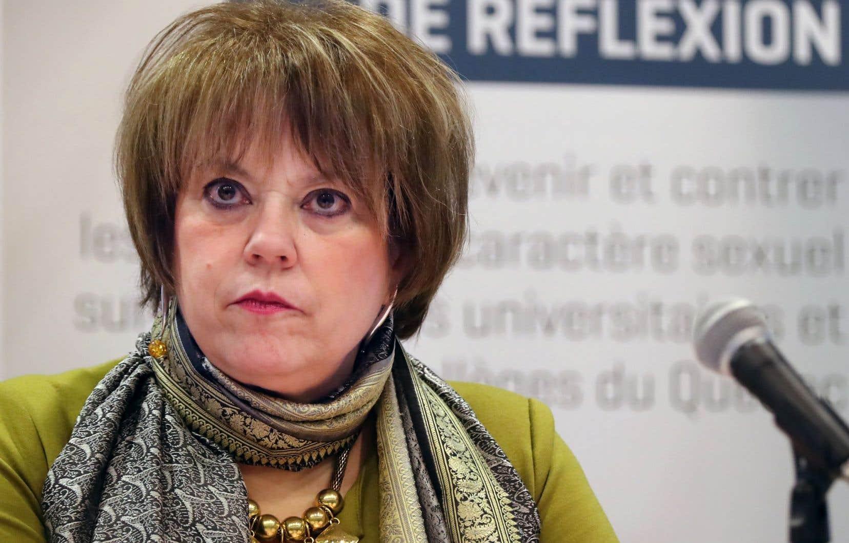 Hélène David, ministre de l'Enseignement supérieur, a dévoilé lundi sa stratégie en matière de prévention des violences sexuelles dans les cégeps et les universités.