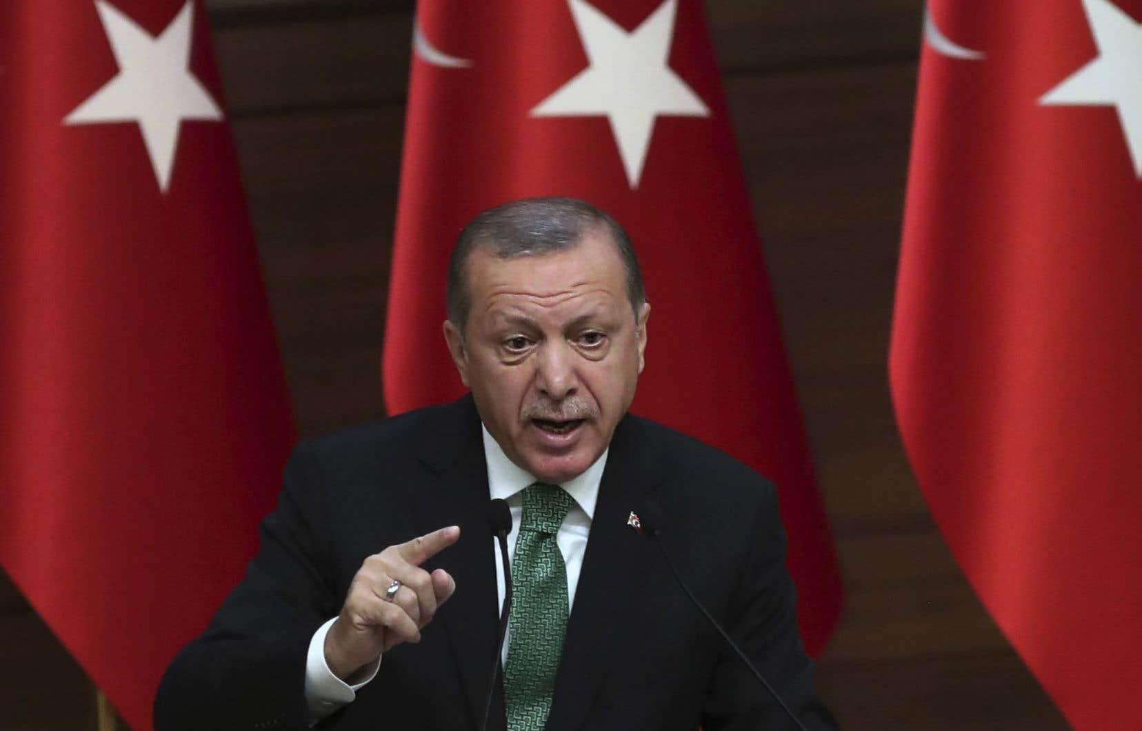 «Nous n'autorisons pas et n'autoriserons jamais la création d'un soi-disant État» par les milices kurdes en Syrie, a répété le président turc Recep Tayyip Erdogan.