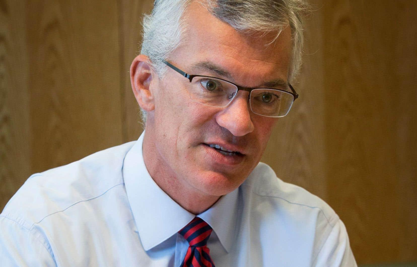 <p>Le président et chef de la direction de la Banque de développement du Canada,Michael Denham</p>