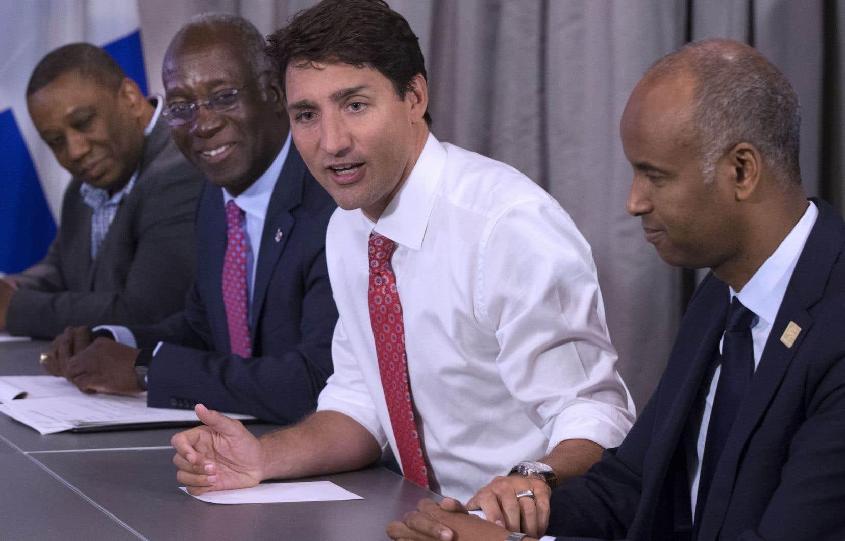 Le premier ministre Justin Trudeau a rencontré des membres de la communauté haïtienne à Montréal, mercredi