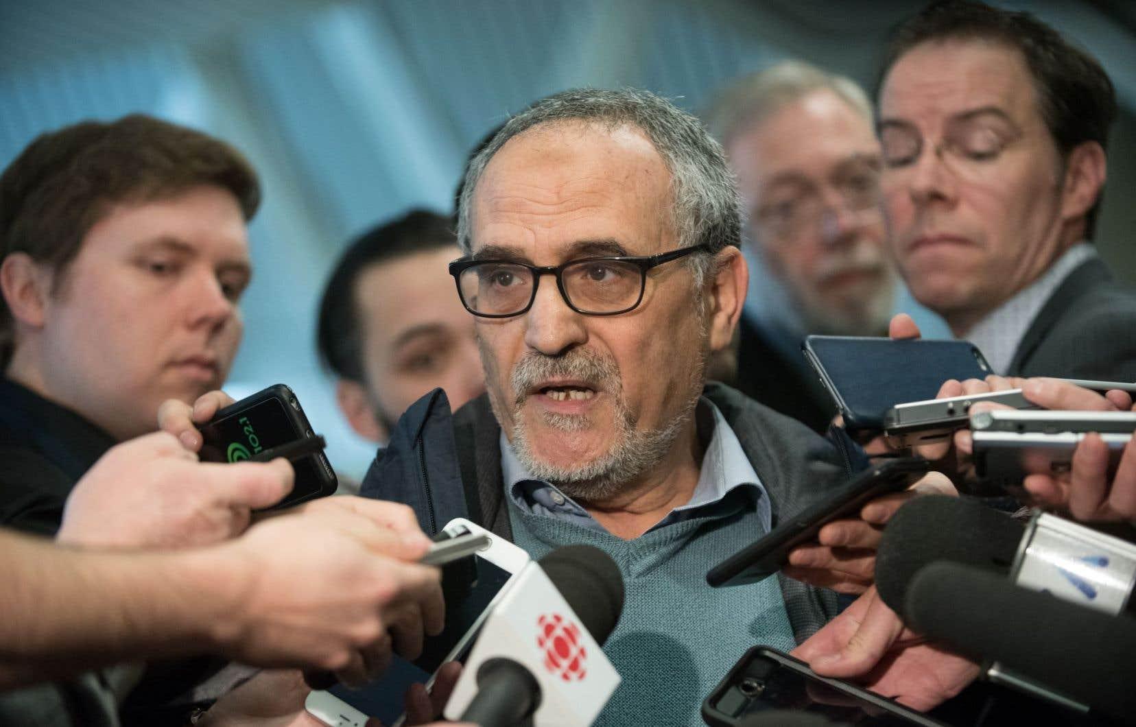 Le président de la Grande Mosquée de Québec, Mohamed Labidi, en février dernier