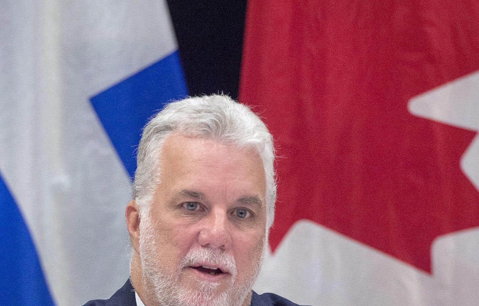 Le premier ministre du Québec,Philippe Couillard