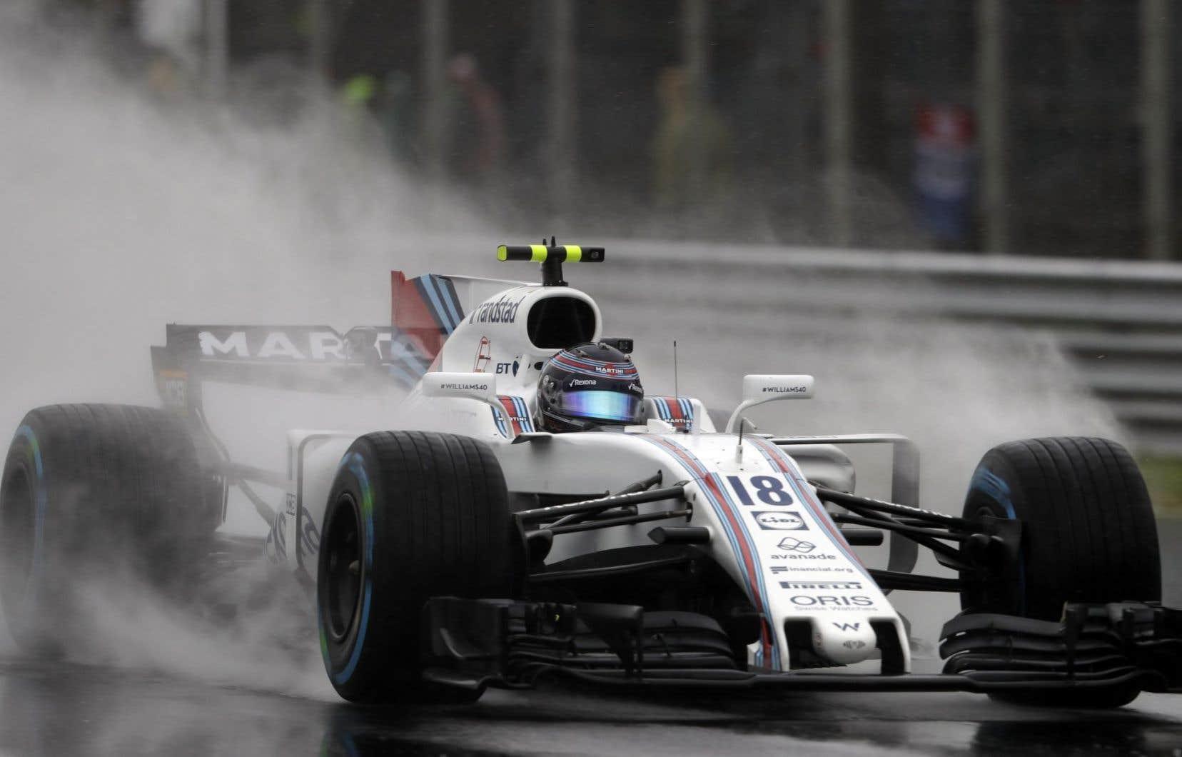 Le jeune pilote québécois Lance Stroll, lors des qualifications du Grand Prix d'Italie, samedi