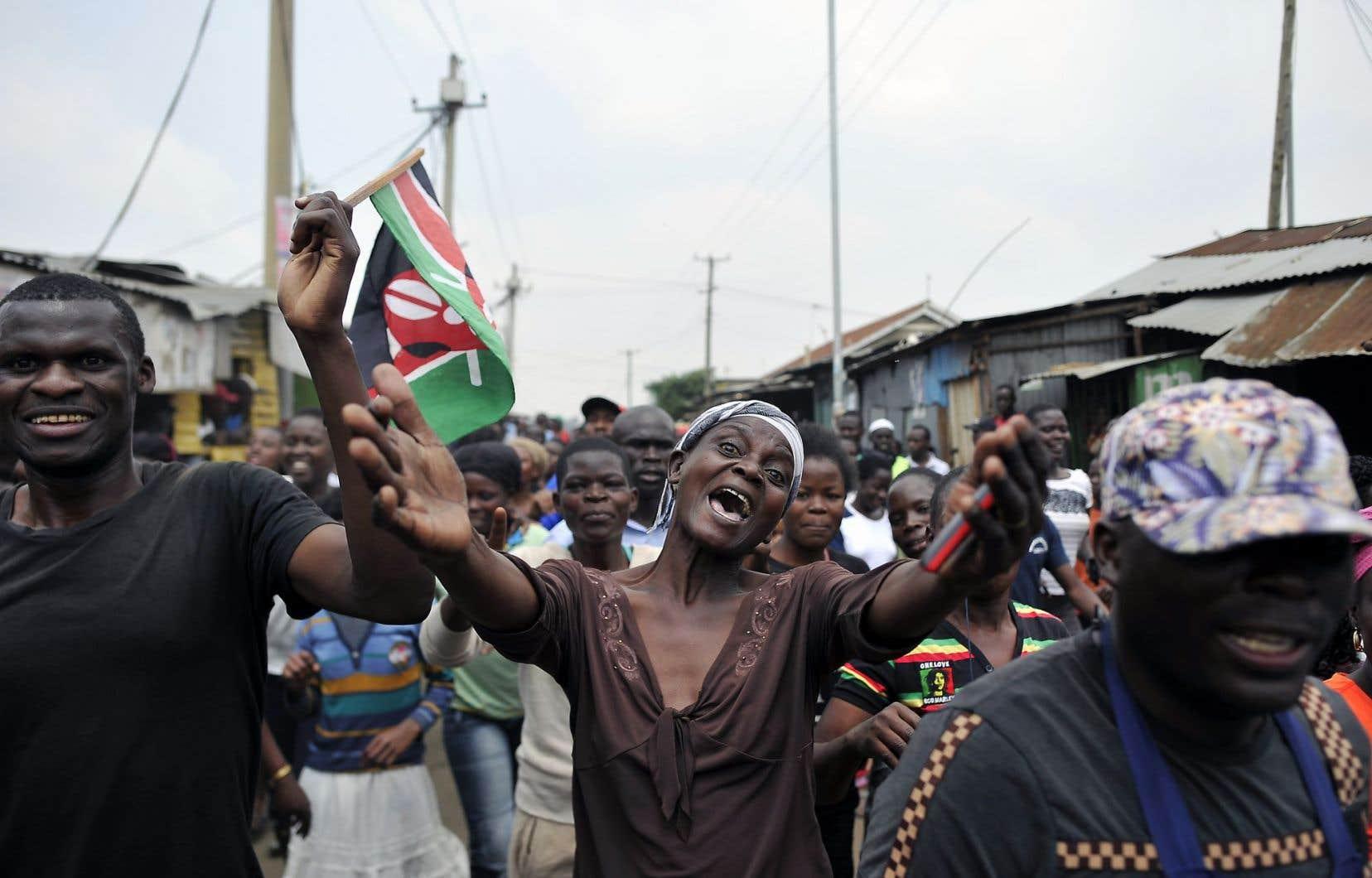 Des partisans de l'opposant Raila Odinga dans les rues de Nairobi, le 1er septembre dernier