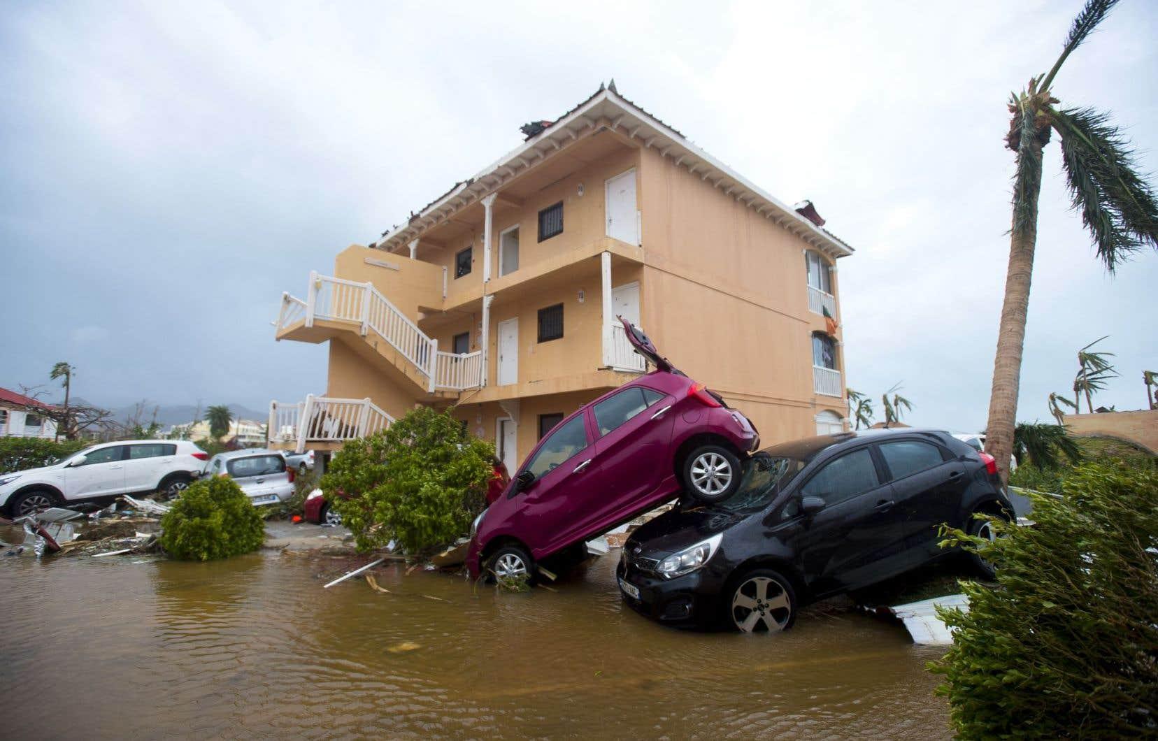 Le bilan risque de s'alourdir à Saint-Martin (ci-dessus) et Saint-Barthélemy, puisque les secouristes n'ont pas encore pu se rendre partout.