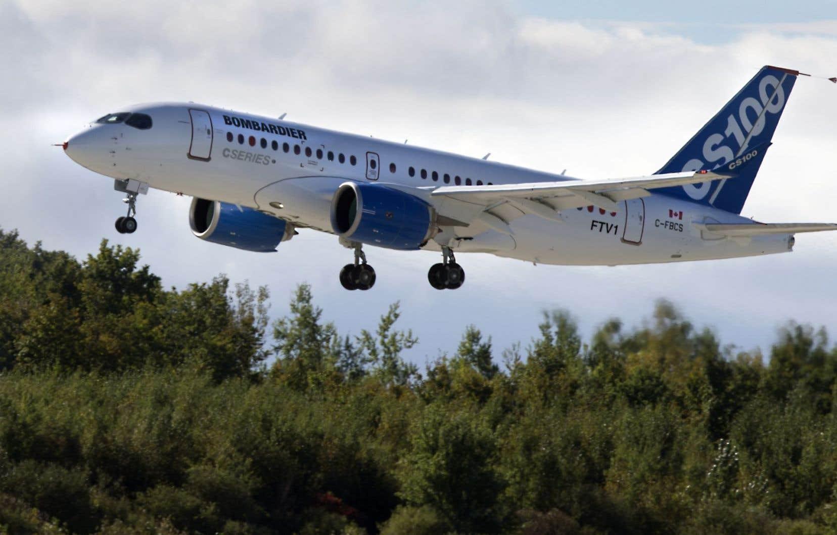 Un avion CSeries de Bombardier