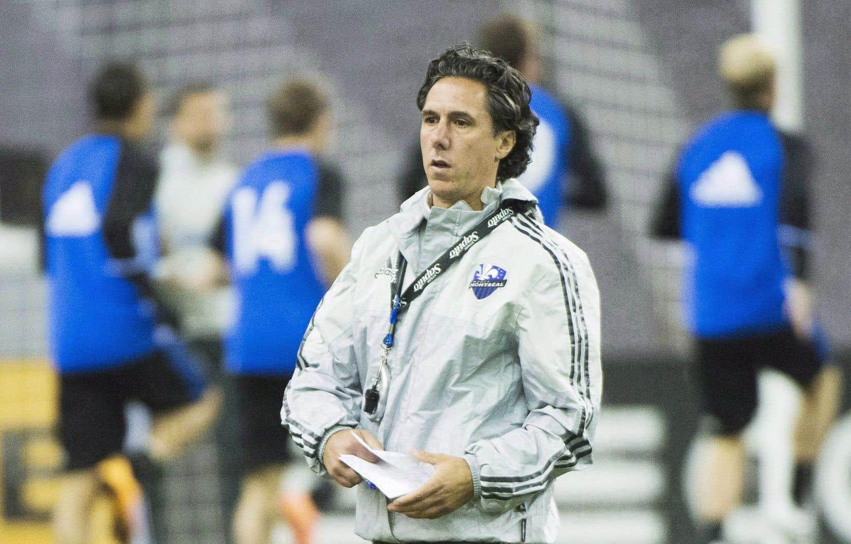 L'entraineur-chef de l'Impact de Montréal Mauro Biello