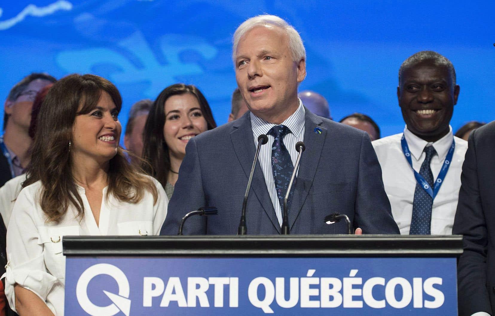 Jean-François Lisée lors du17e congrès des membres du PQ.