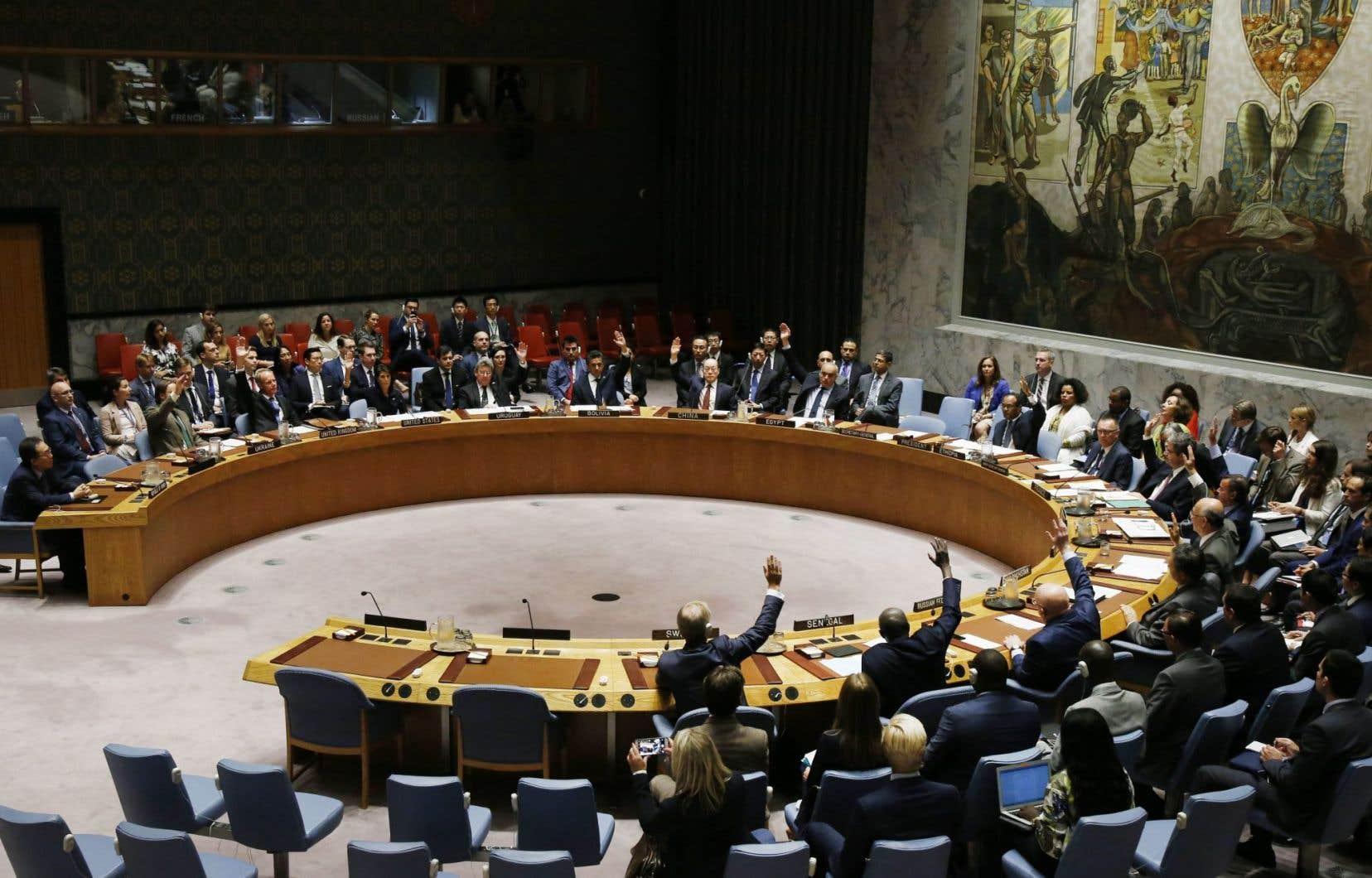 Une rencontre duConseil de sécurité de l'ONU, lundi le 11 septembre