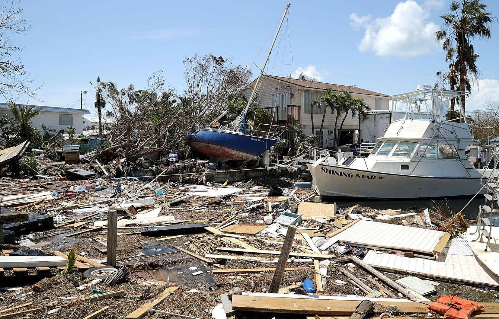Dans le sillage d'«Irma», lesgravats accumulés témoignent de la puissance de la tempête.