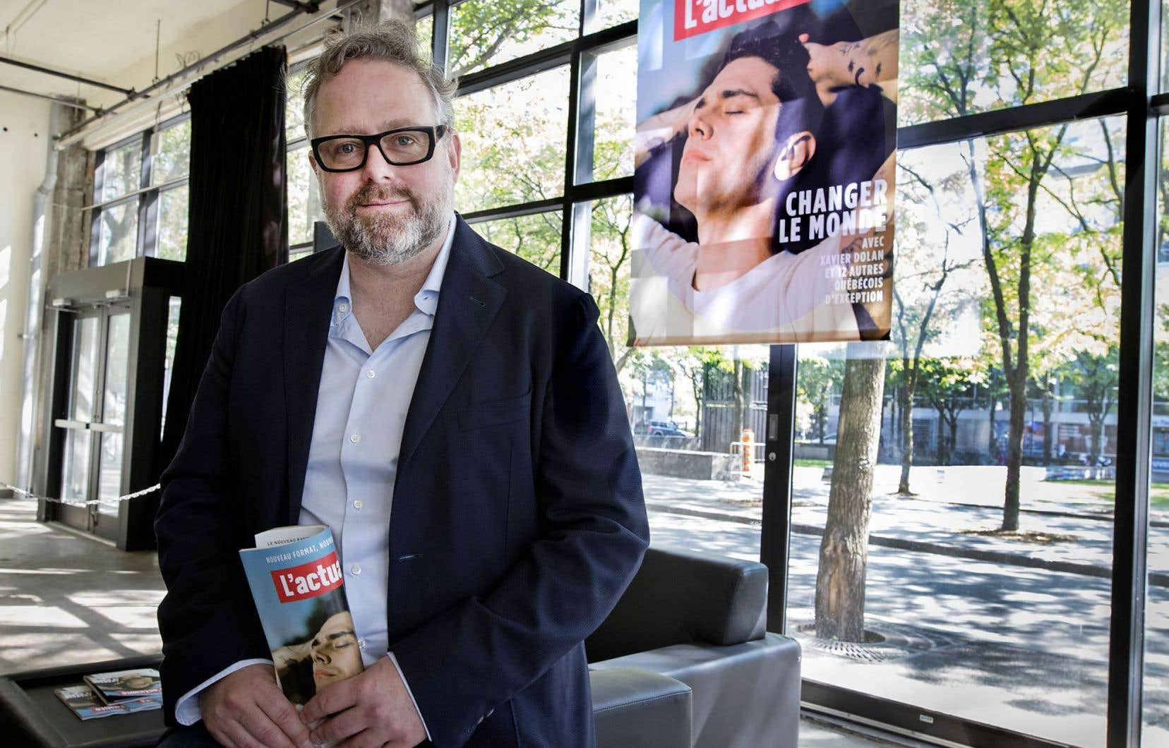 «L'actualité» a présenté son image modernisée, mercredi à Montréal. Le nouveau propriétaire du magazine, Alexandre Taillefer, a parlé des nouvelles alliances du mensuel.