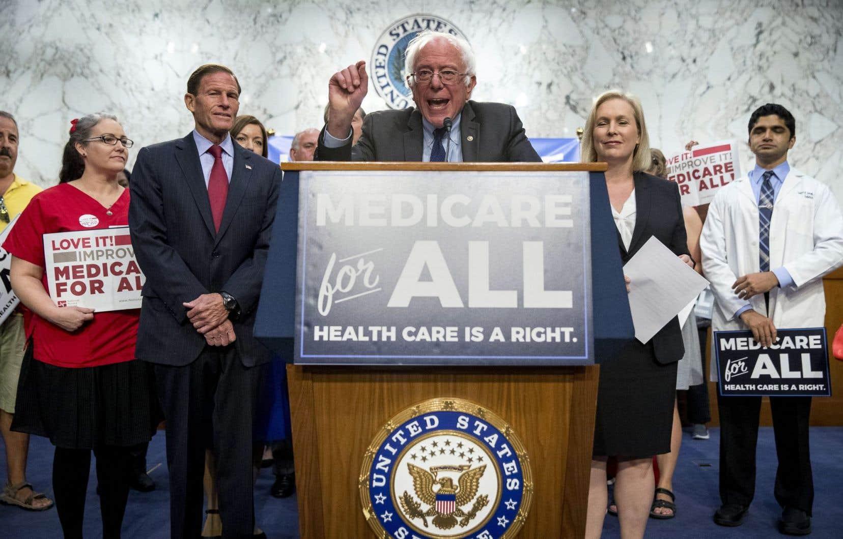 Le sénateur progressiste Bernie Sanders, à Washington mercredi