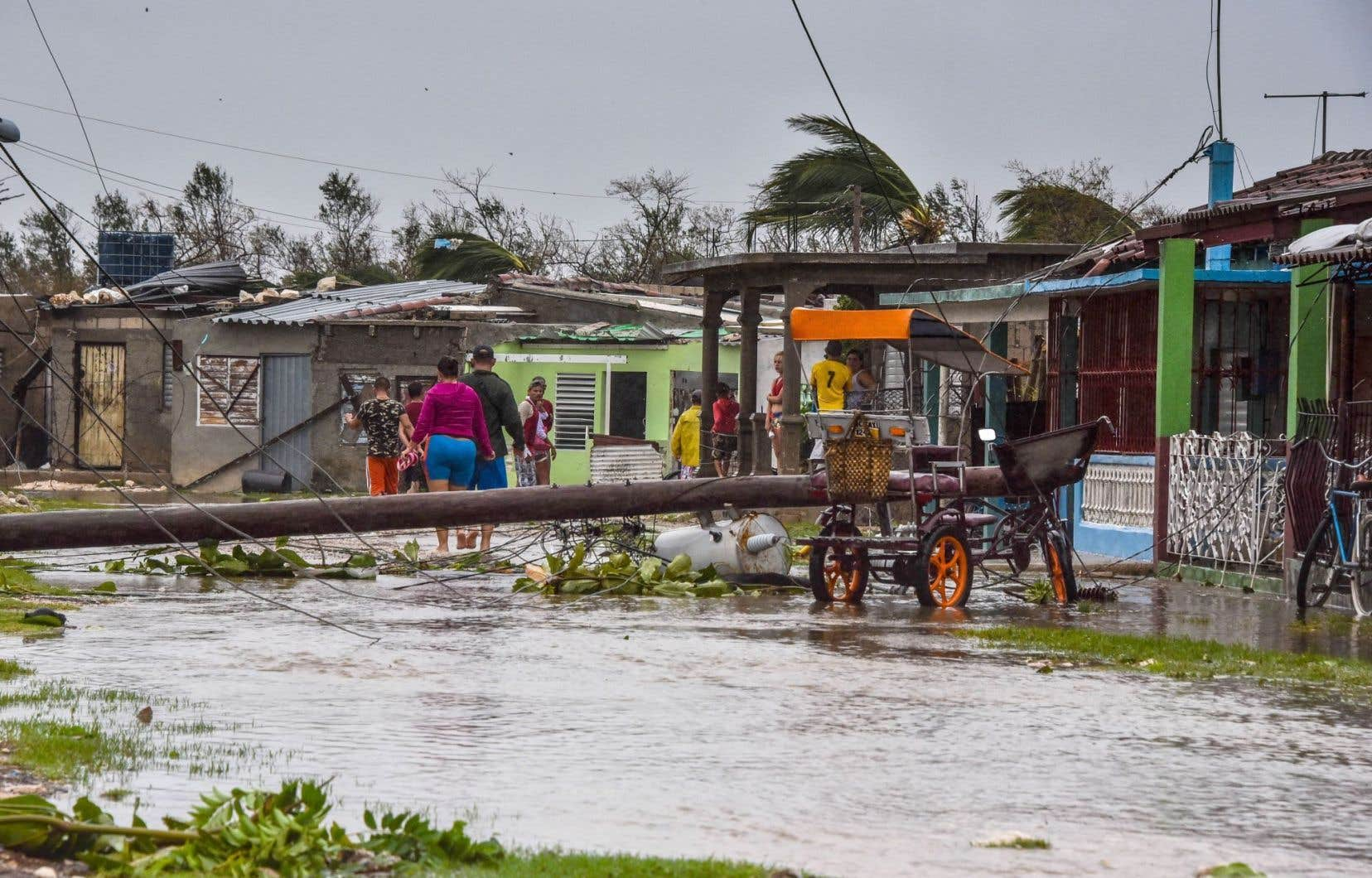 La province de Villa Clara, à 330km à l'est de La Havane, a été durement atteinte par l'ouragan.