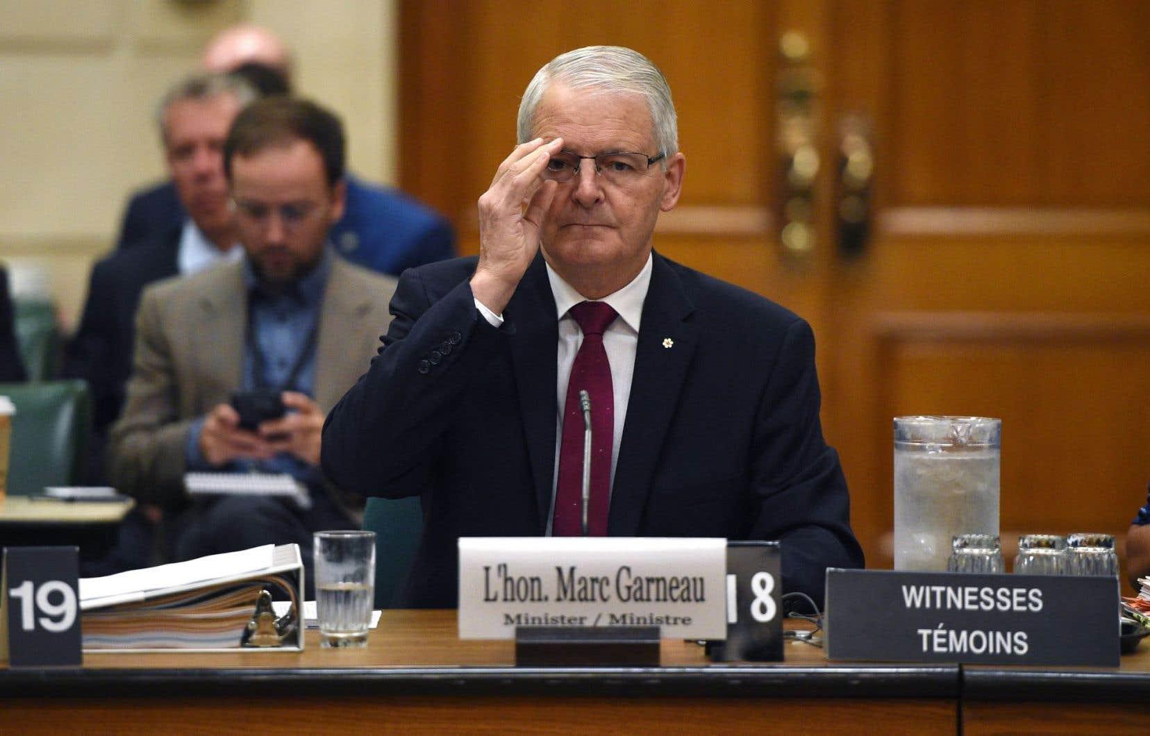 Le ministre fédéral des Transports, Marc Garneau