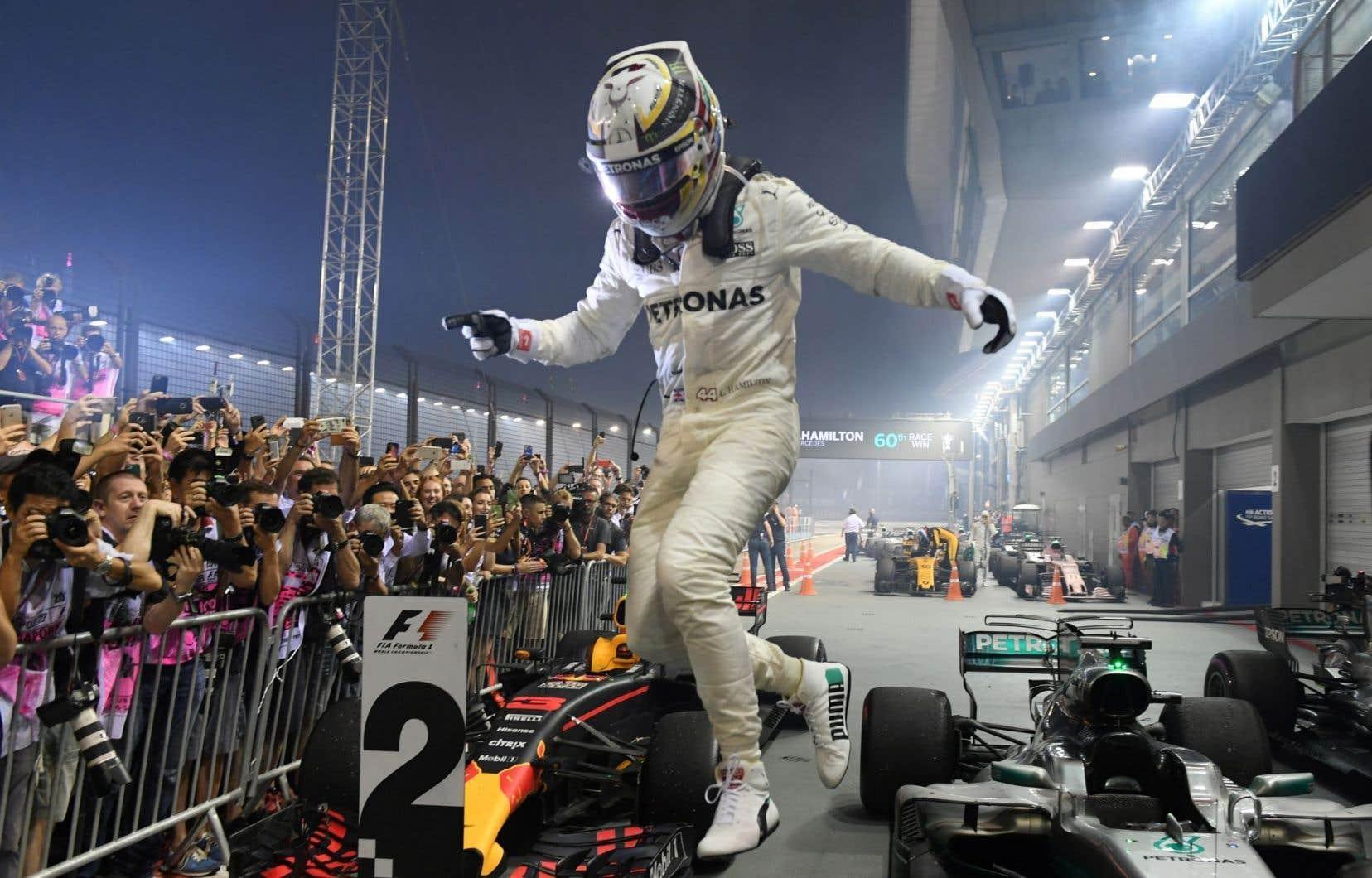 Lewis Hamilton a signé sa septième victoire de la campagne, et sa 60eau total.