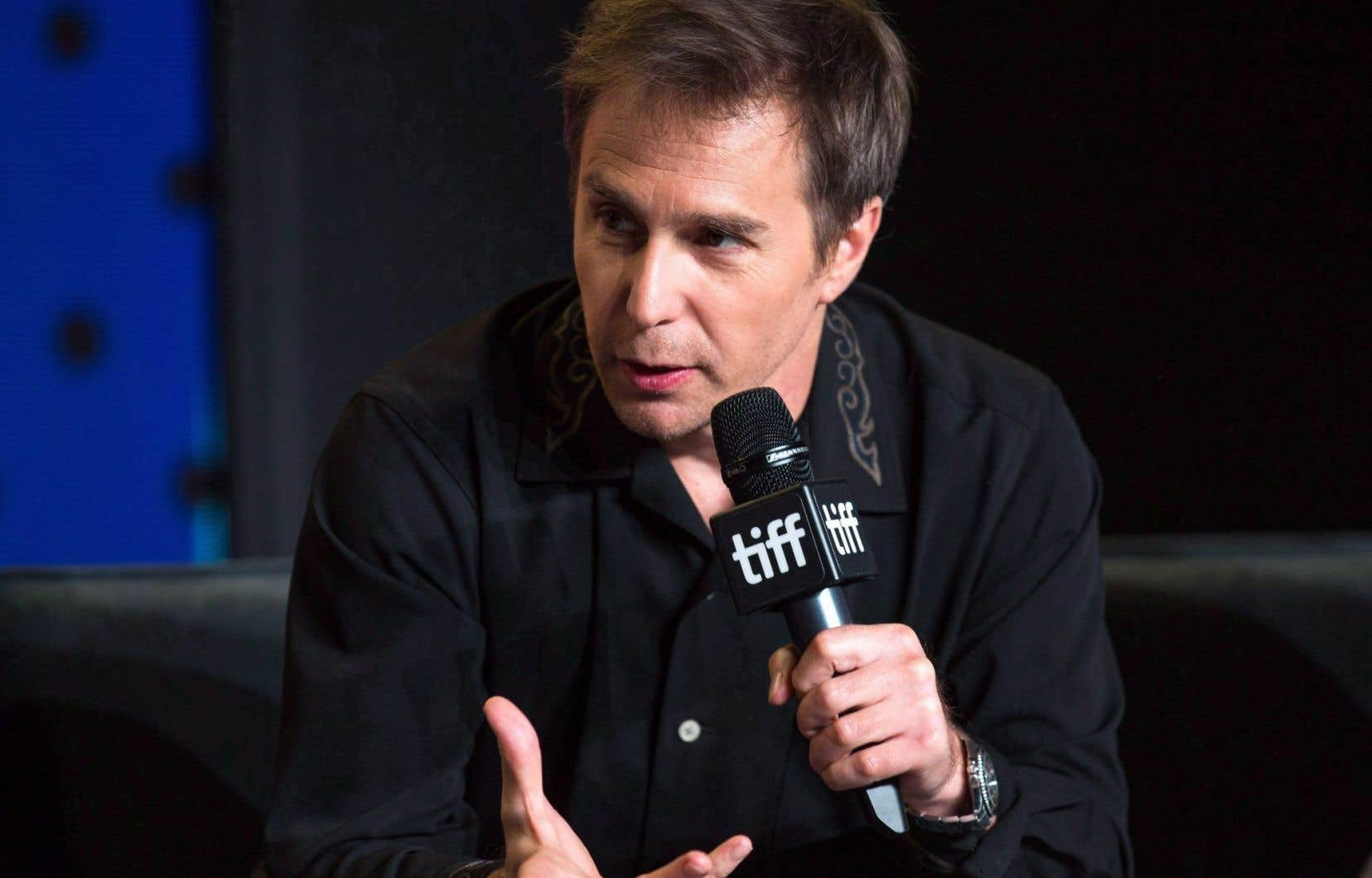 L'acteur Sam Rockwell du film <em>Three Billboards Outside Ebbing, Missouri au </em>Toronto International Film Festival.