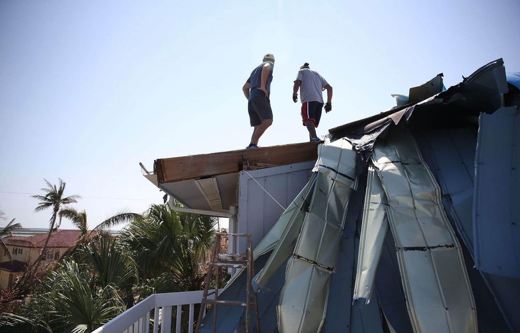 La grande majorité des habitations de l'archipel des Keys ont été soit détruites, soit endommagées.