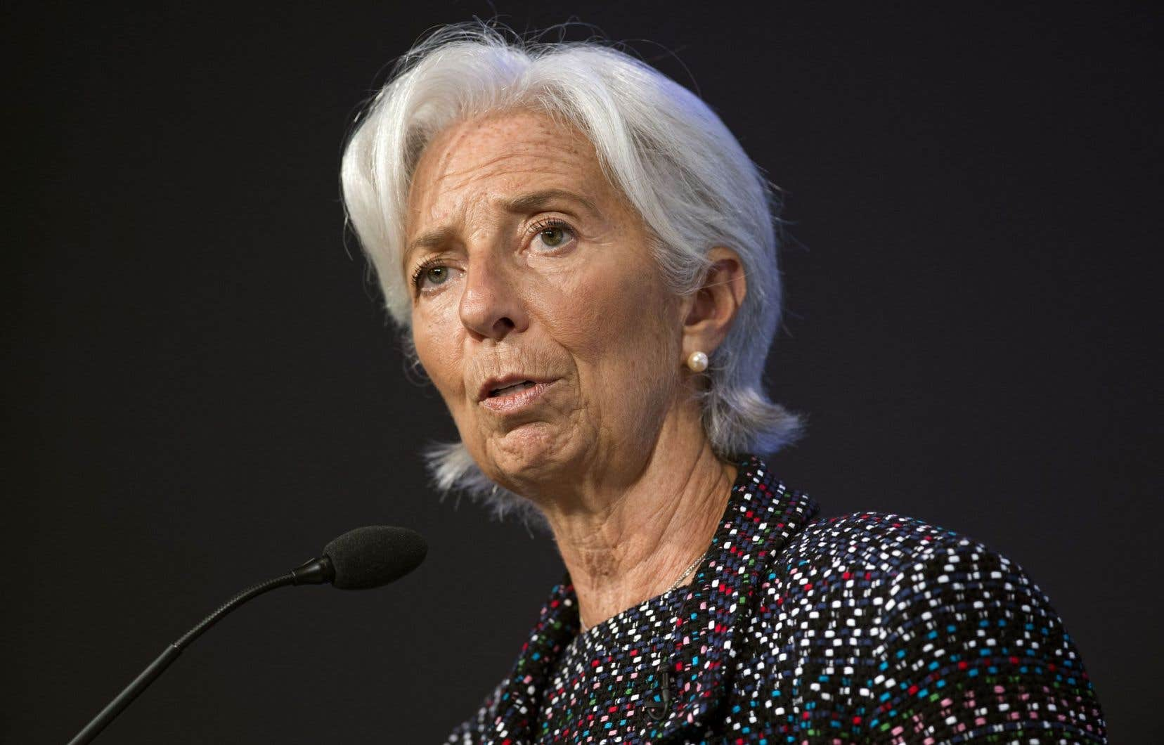 Christine Lagarde, directrice du Fonds monétaire international
