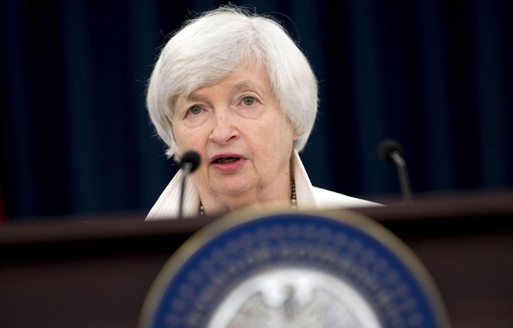 La présidente de la Fed, Janet Yellen, s'est refusée à donner une indication sur sa succession alors que son mandat s'achève en février.