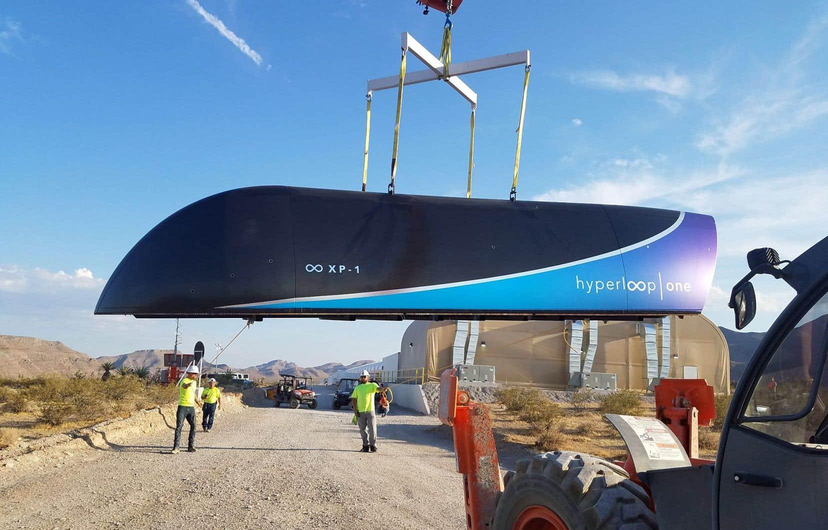Testé pour la deuxième fois fin juillet en plein désert du Nevada, aux États-Unis, le train à très grande vitesse Hyperloop pourrait être mis en service dès 2021.