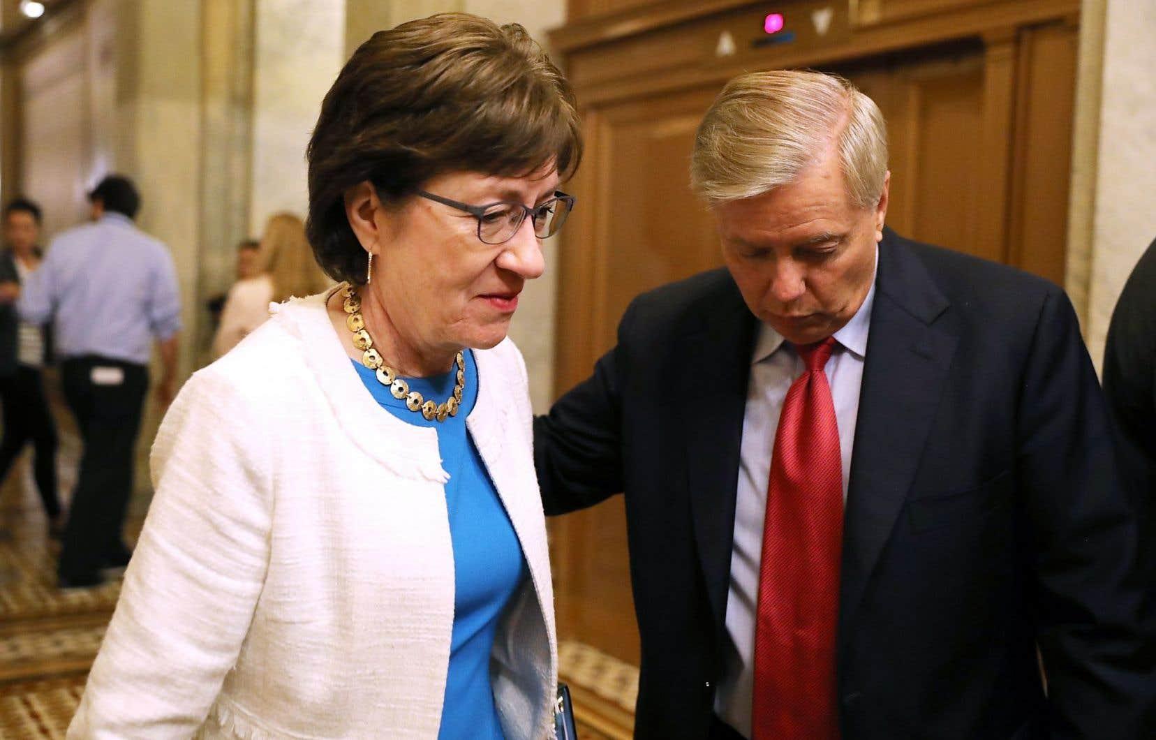 La sénatrice Collins a annoncé sa décision de s'opposer à l'abrogation de la couverture santé lundi.