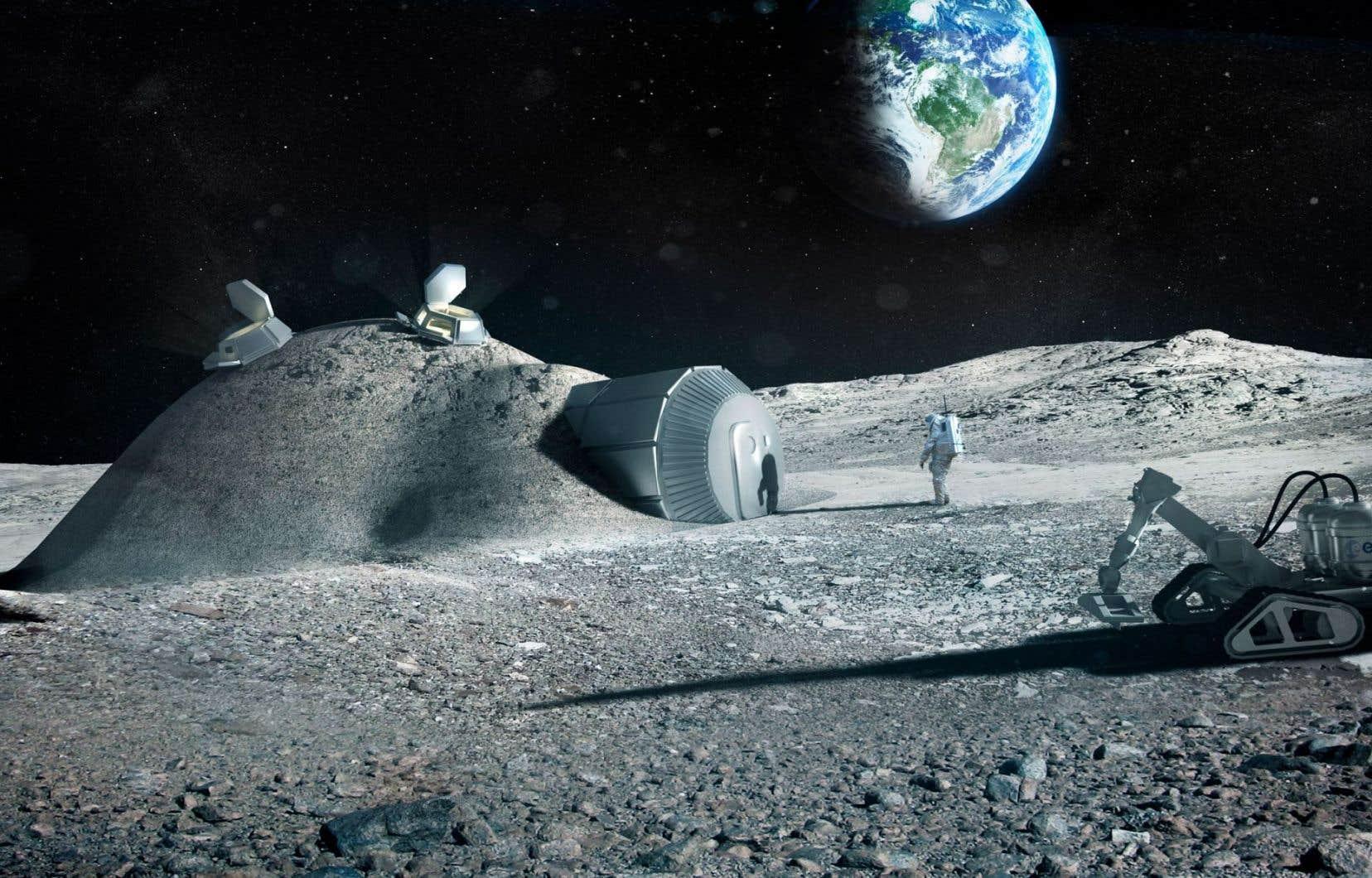 Le directeur général del'Agence Spatiale européenneplaide en faveur de la création d'un «village lunaire» qui pourrait succéder à l'ISS.