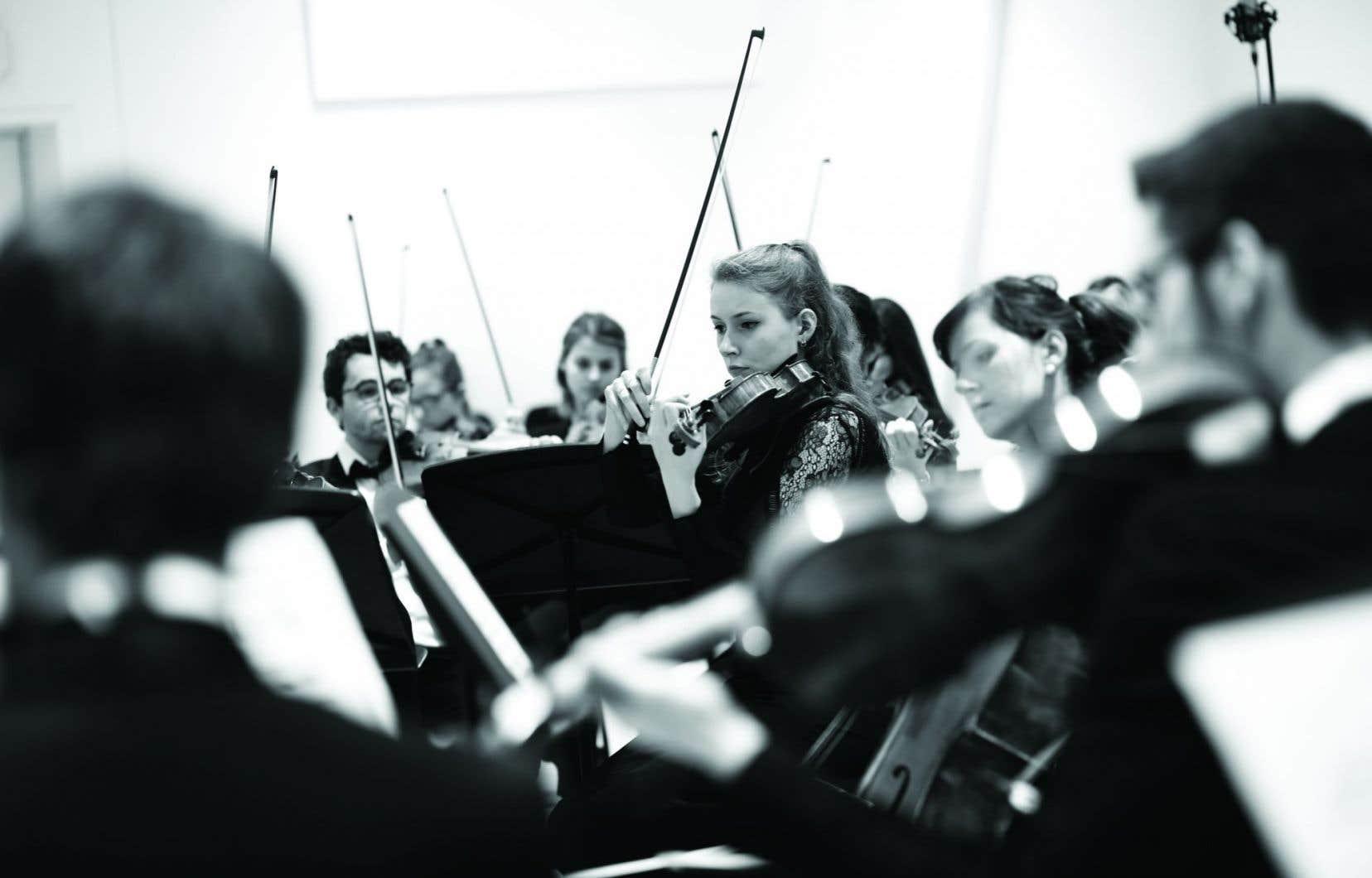 Des violonistes du Conservatoire de musique de Montréal