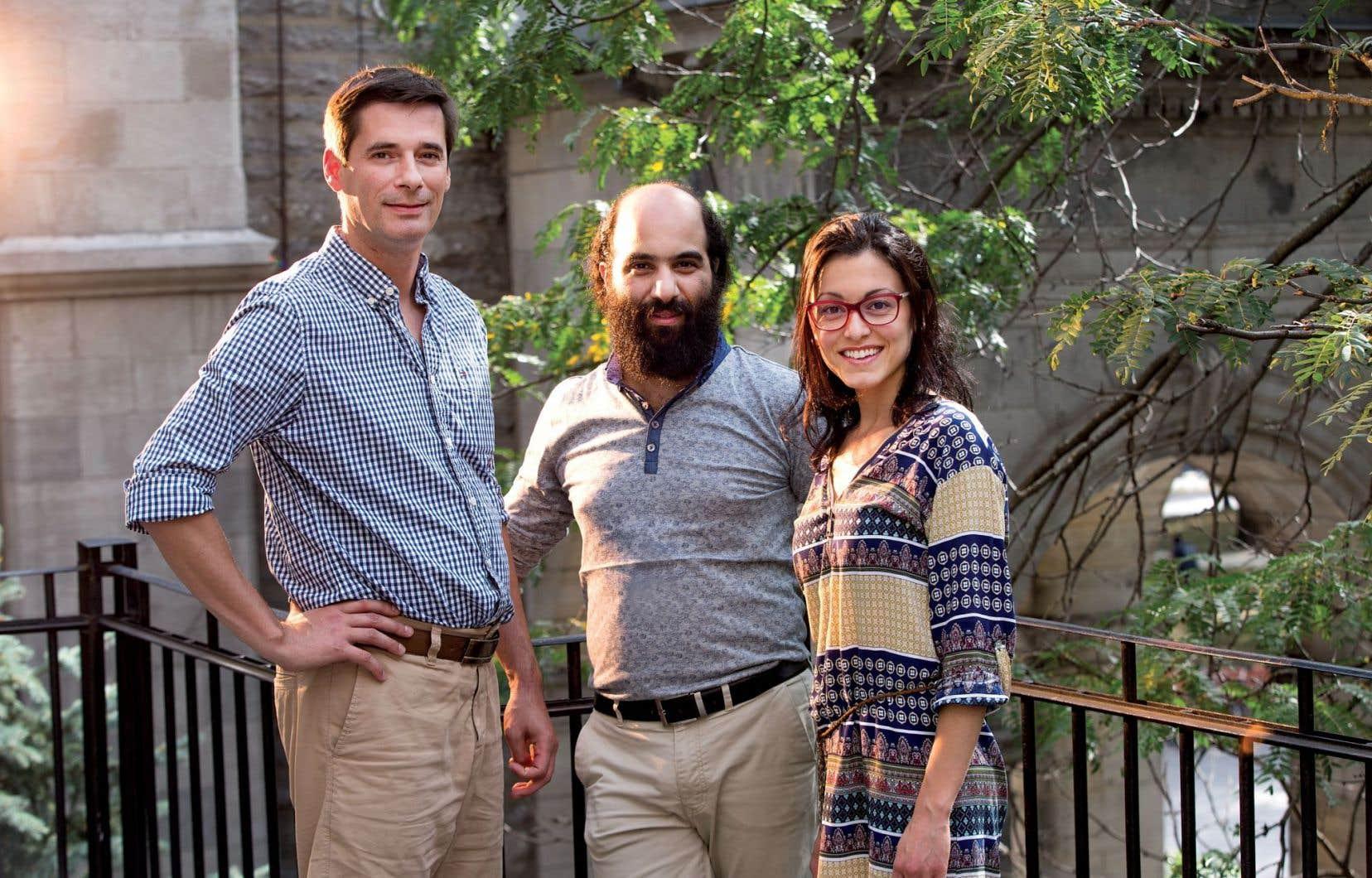 Frédéric Léotar, Kiya Tabassian et Caroline Marcoux-Gendron, respectivement directeur général, directeur artistique et coordonnatrice