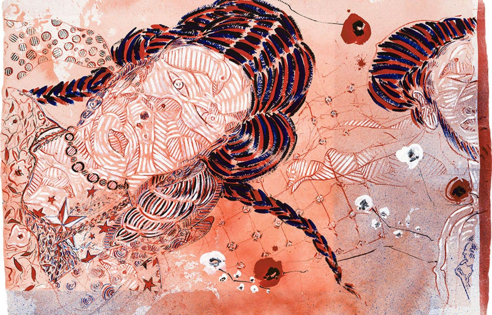 «Dream Figures in Moonlight (9/12)», François Morelli, 2015