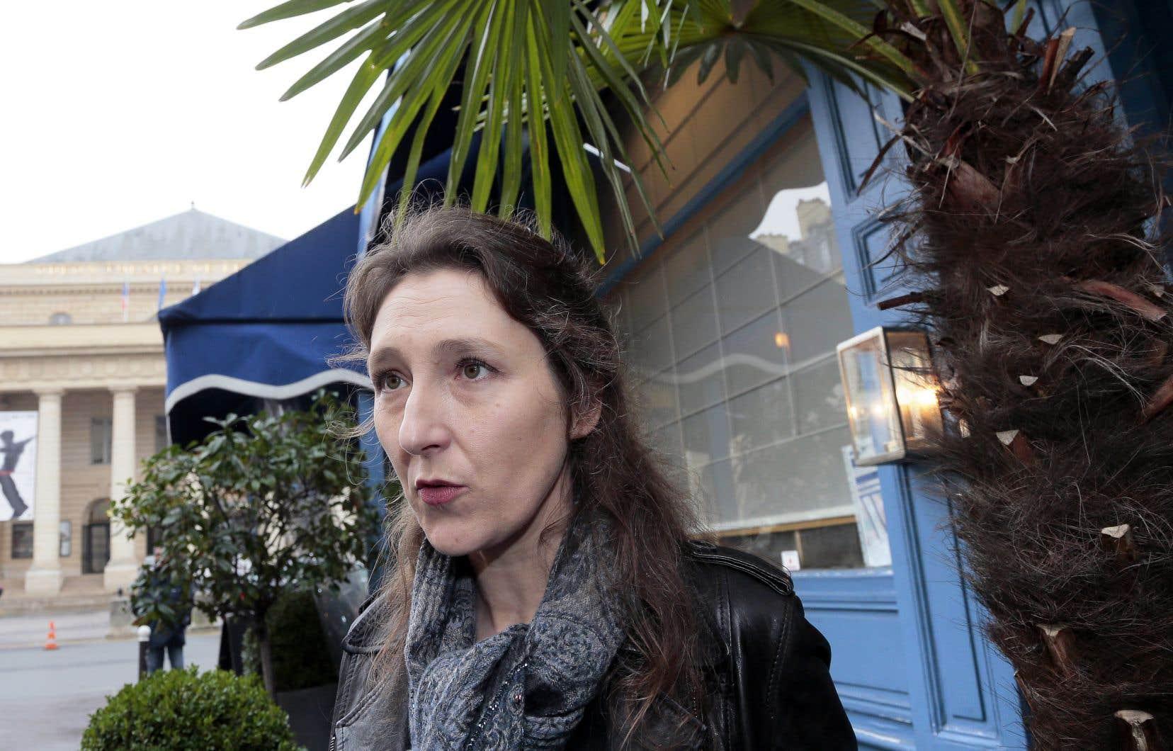 L'auteure à Paris, en 2013