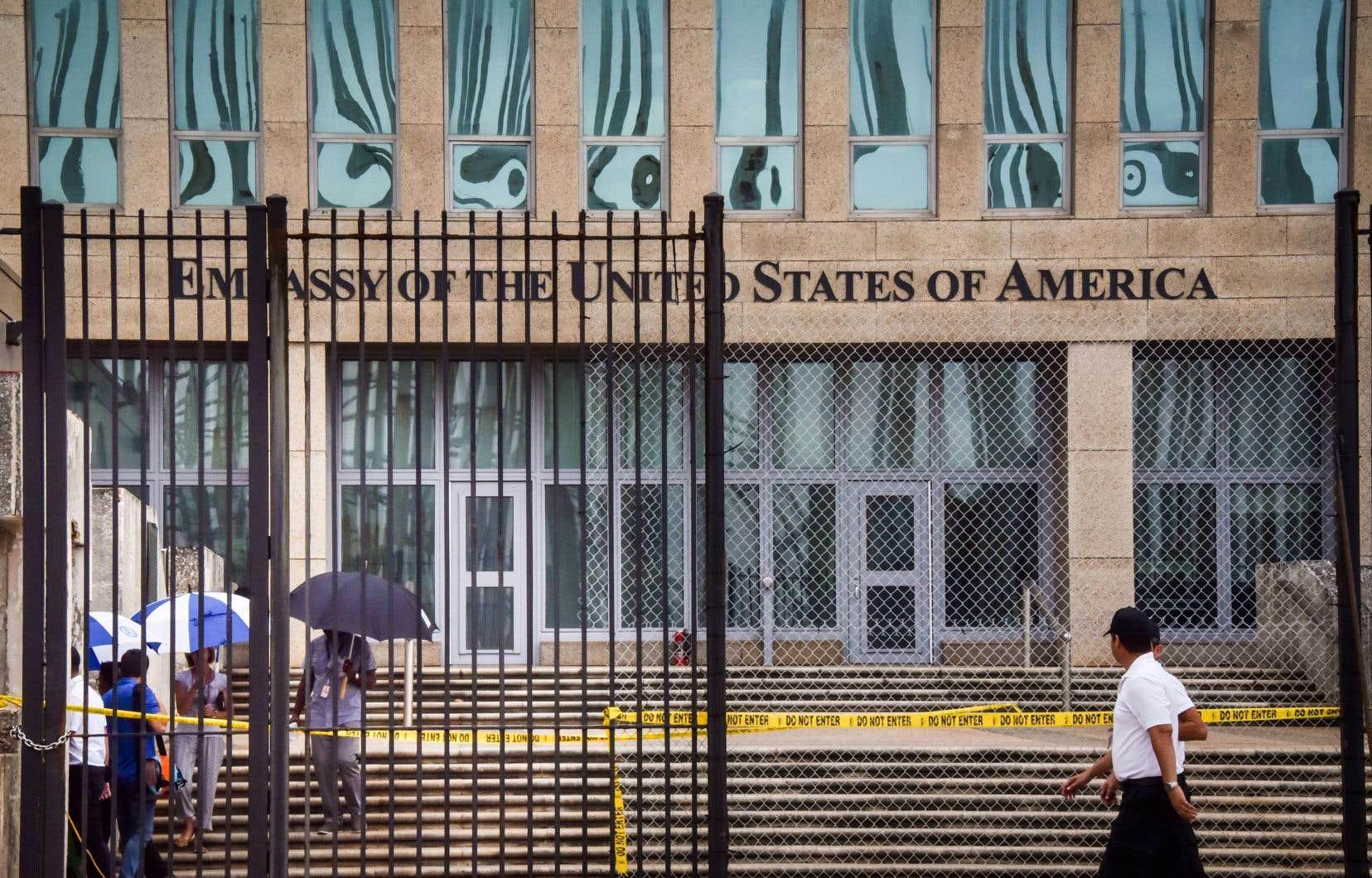 L'ambassade américaine à La Havane, à Cuba