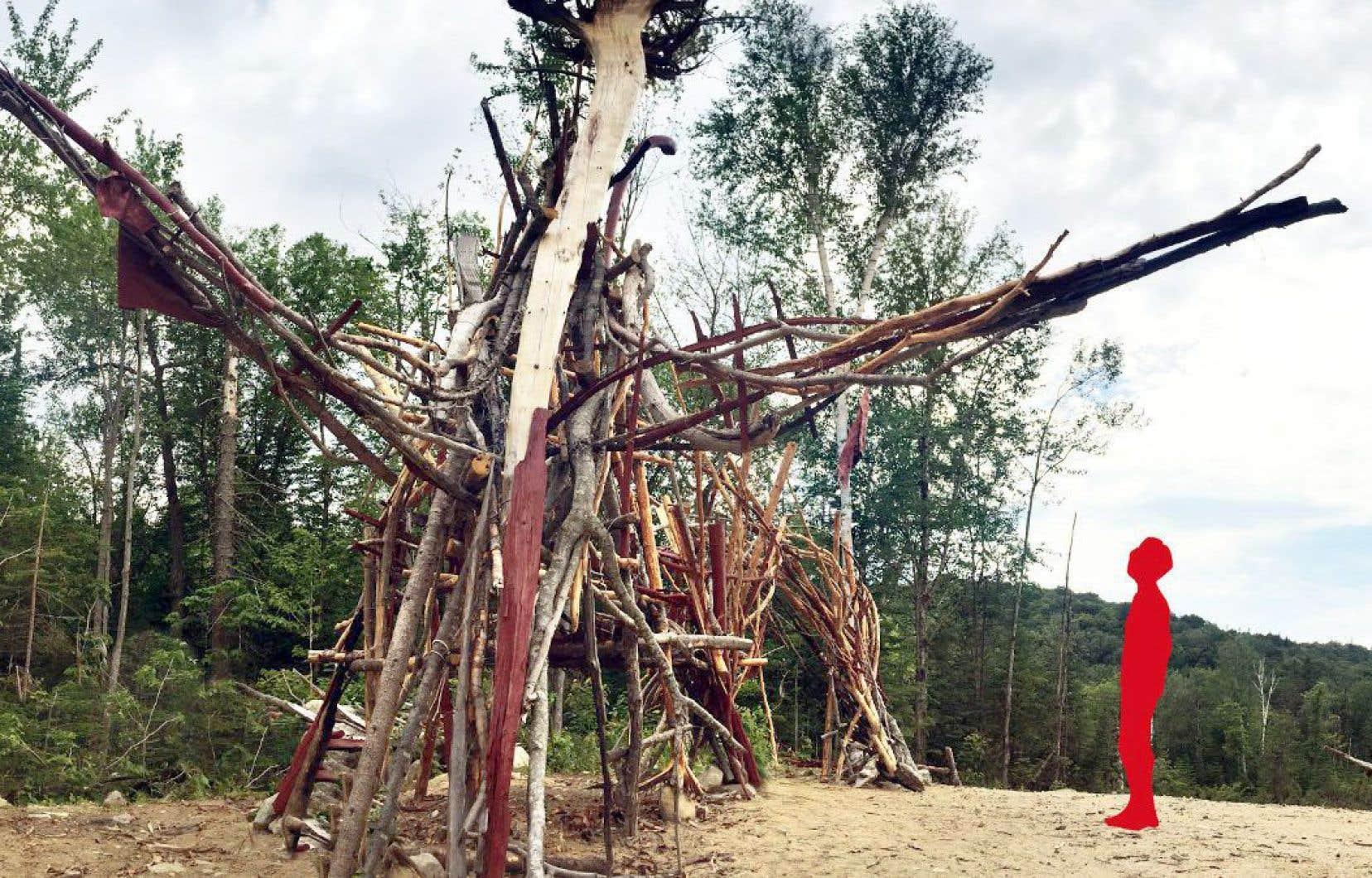 Le mammouth incarne l'appétit sans cesse grandissant des entreprises forestières pour cette matière première.