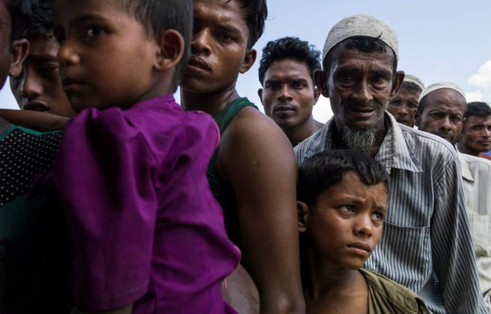 Plus de 507 000 Rohingyas de Birmanie ont déjà passé la frontière pour fuir une campagne de répression de l'armée birmane.
