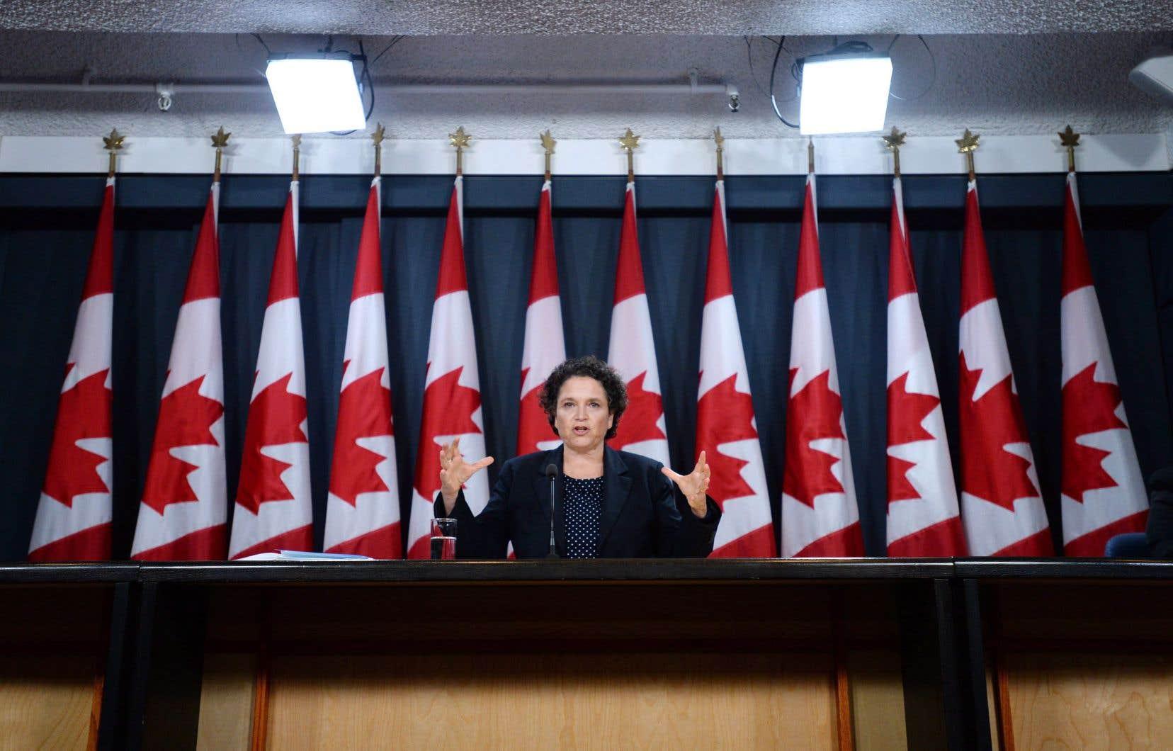 La commissaire à l'environnement,Julie Gelfand