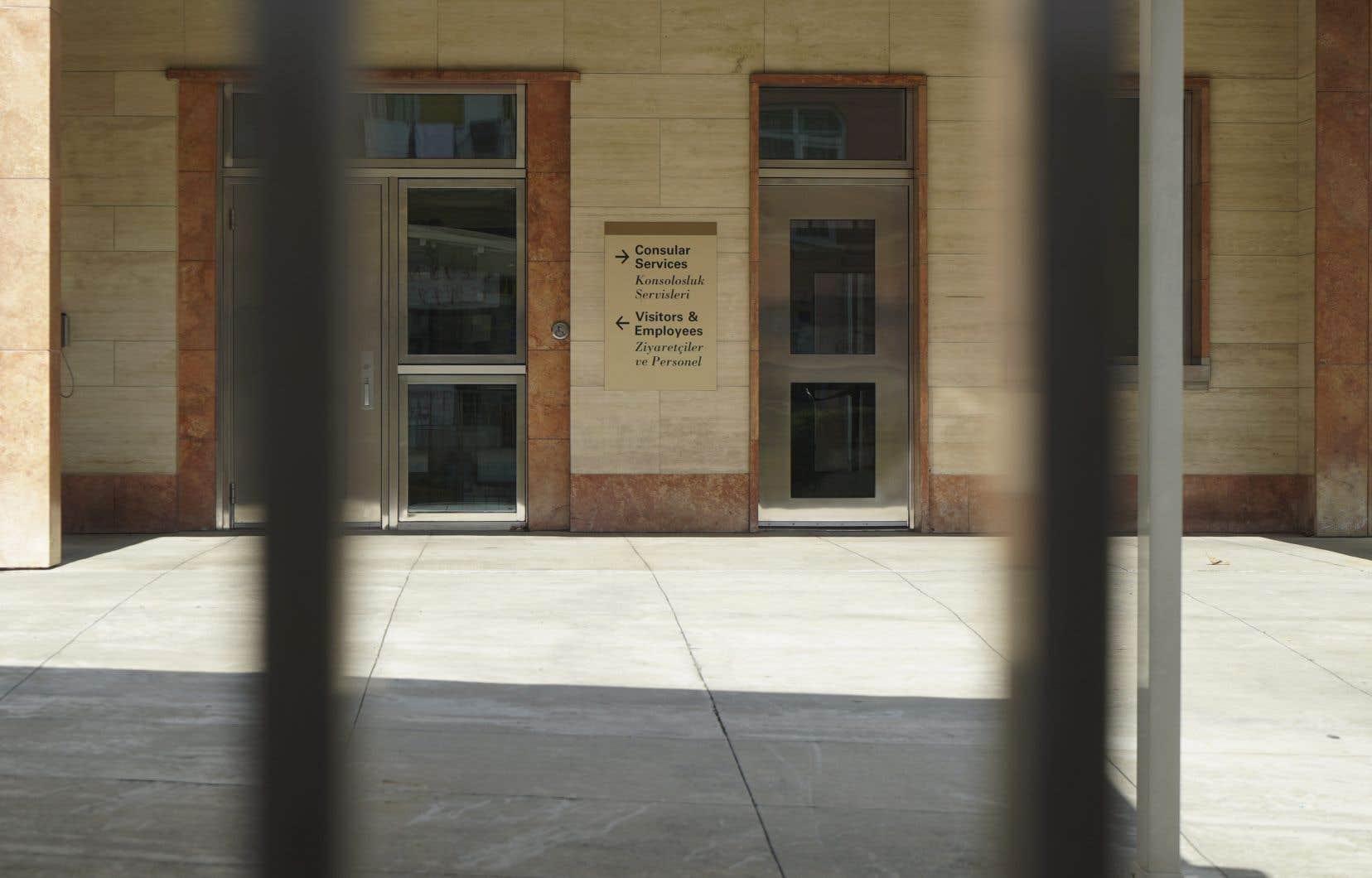 Les bureaux du consulat américain à Istanbul sont demeurés fermés, lundi.