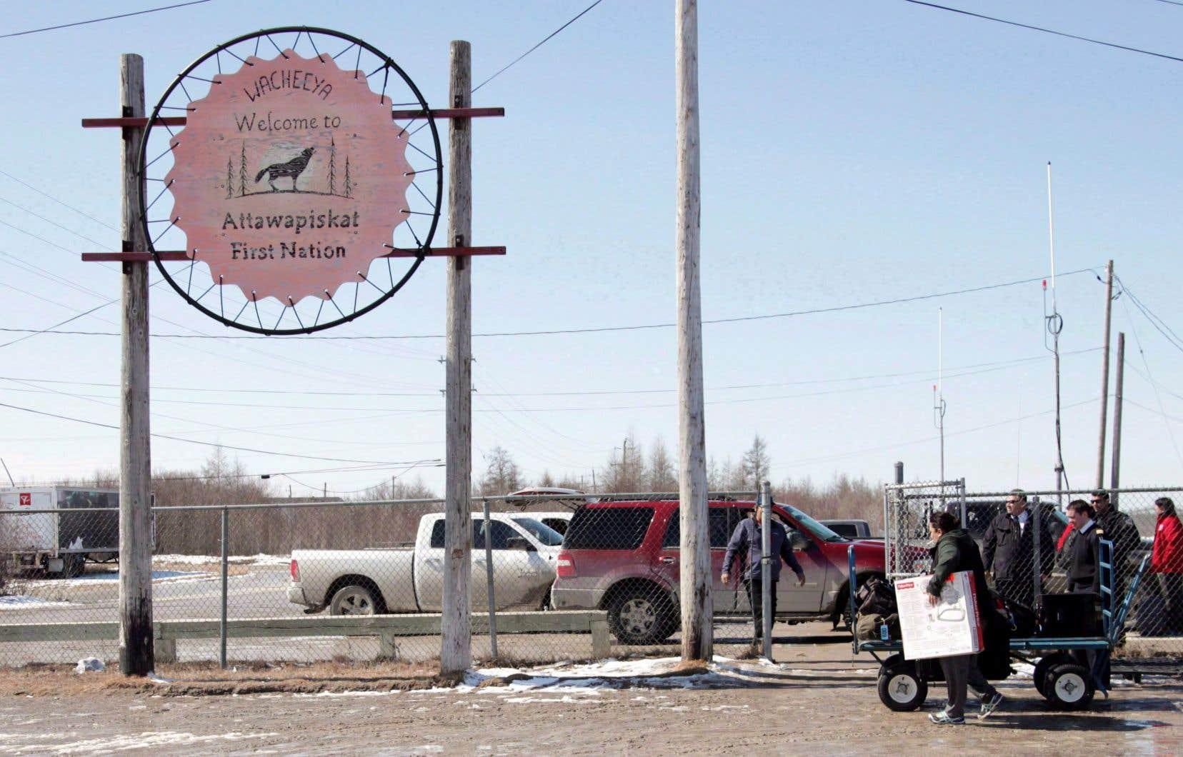 La communauté d'Attawapiskat est située dans le nord de l'Ontario.