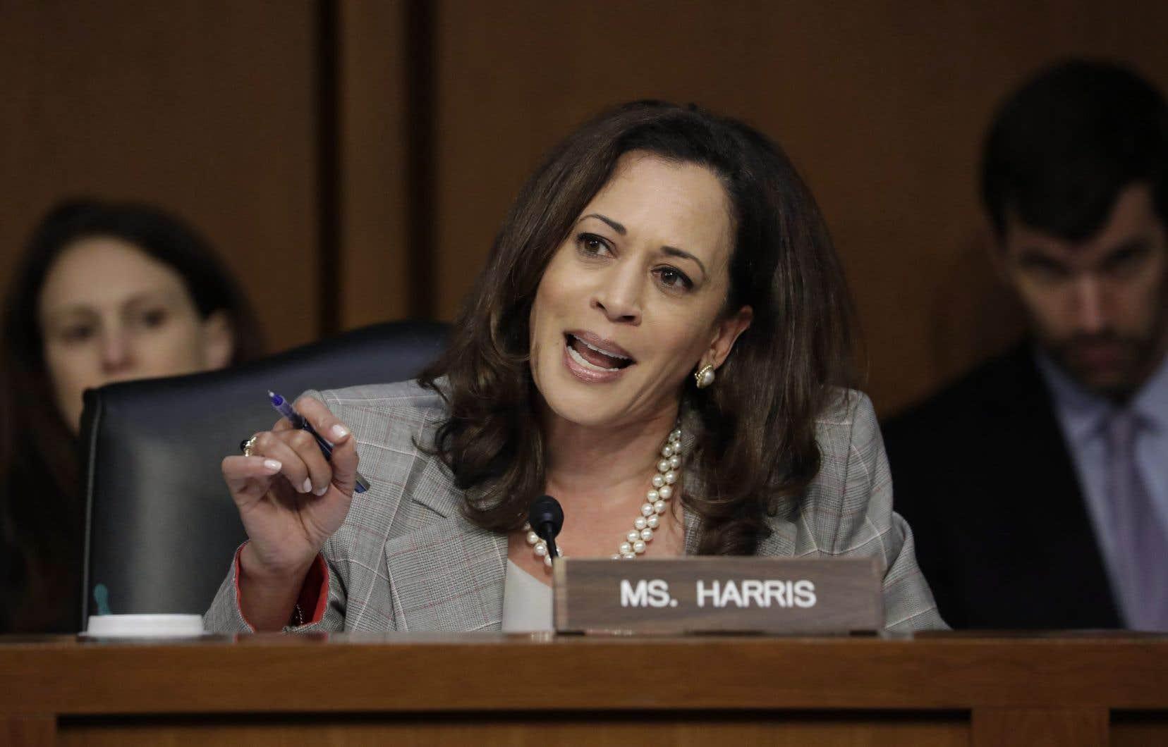 Kamala Harris, lors de son interrogatoire corsé avec le ministre de la Justice Jeff Sessions, en juin dernier