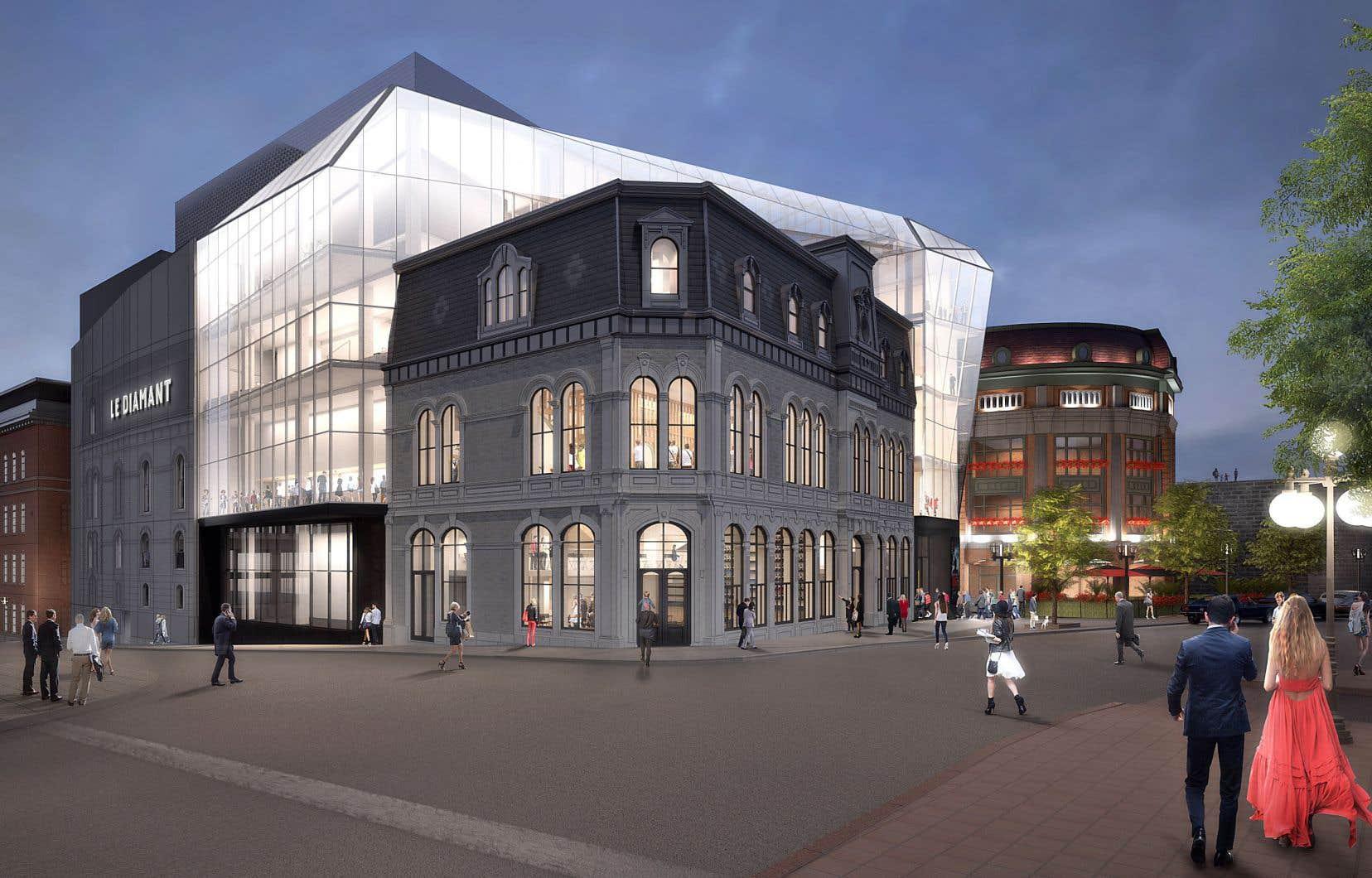 Le Diamant récupère la façade du YMCA de la place D'Youville.