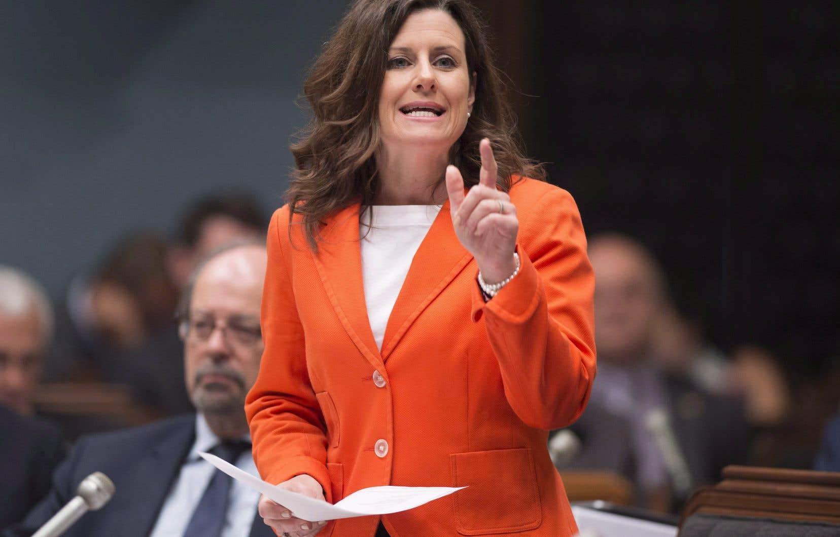 La ministre de la Justice, Stéphanie Vallée
