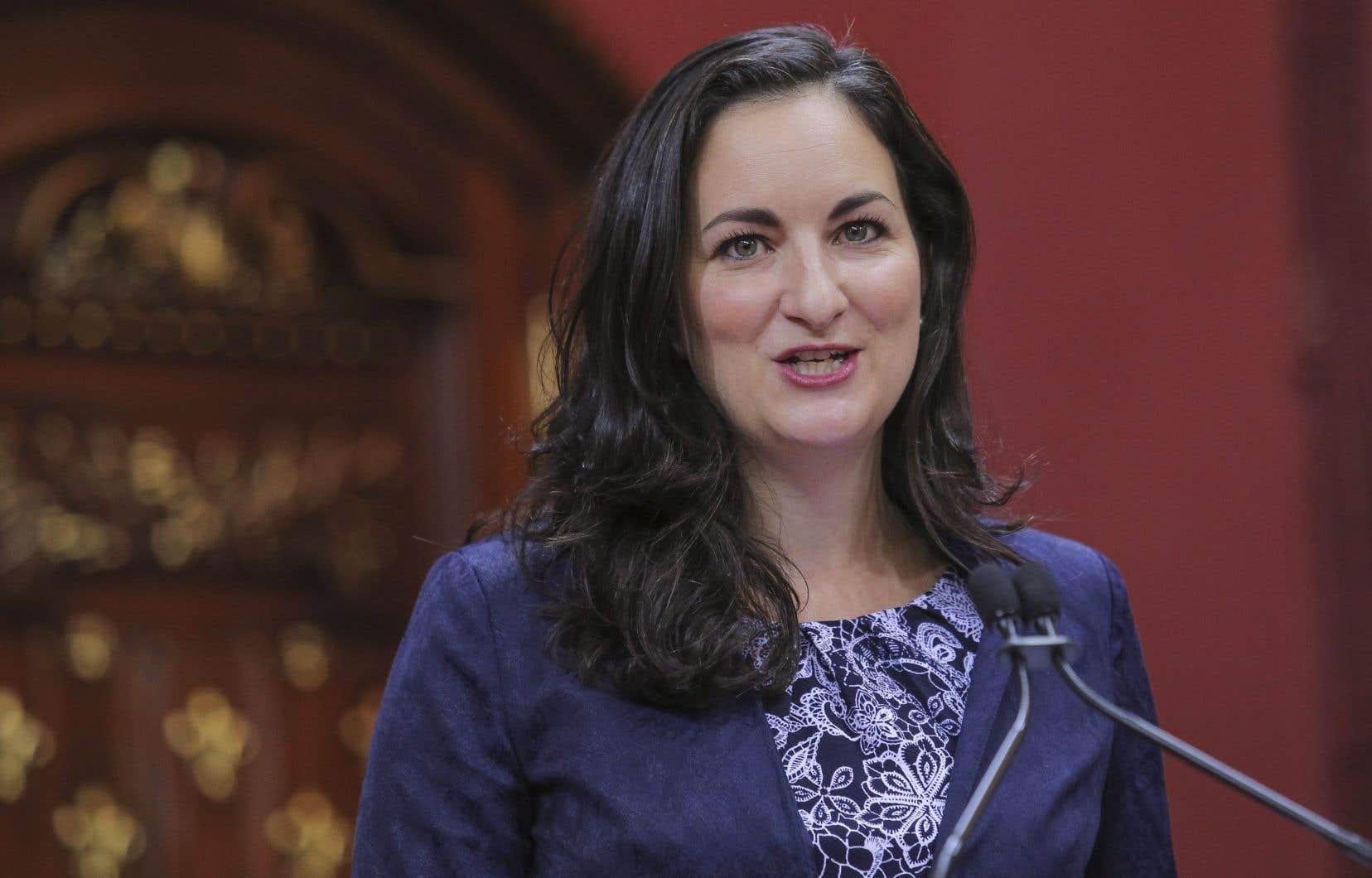 La nouvelle ministre de la Culture et des Communications,Marie Montpetit