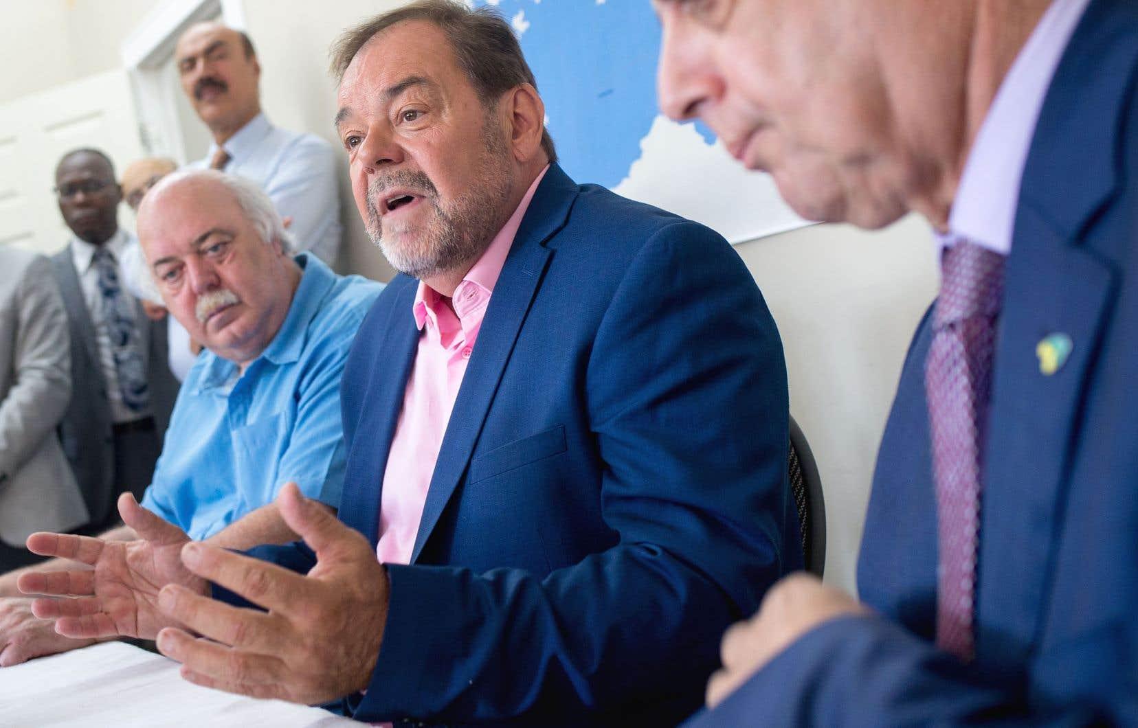 Le candidat de Coalition Montréal, Jean Fortier