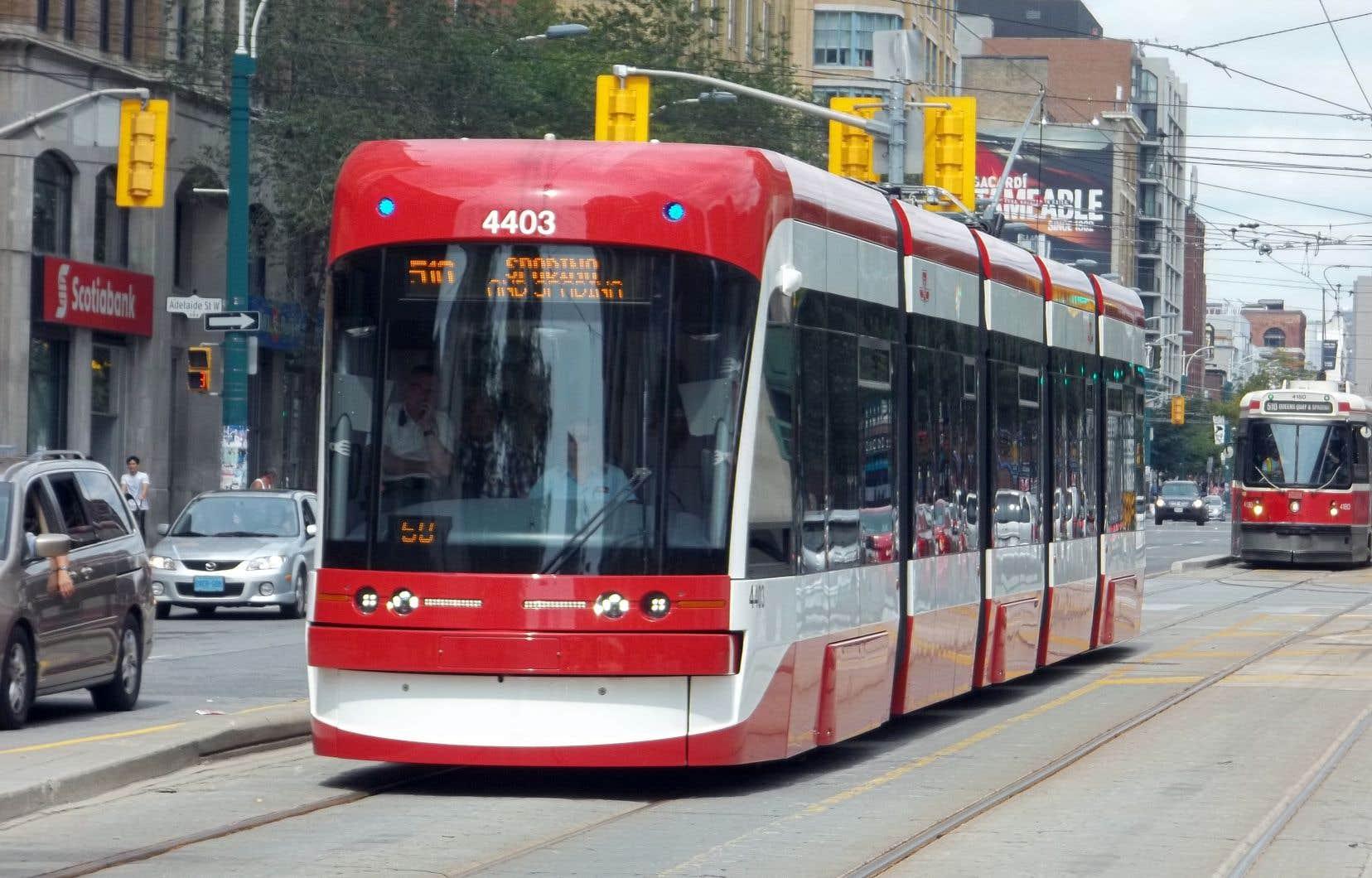 Un tramway de Bombardier à Toronto