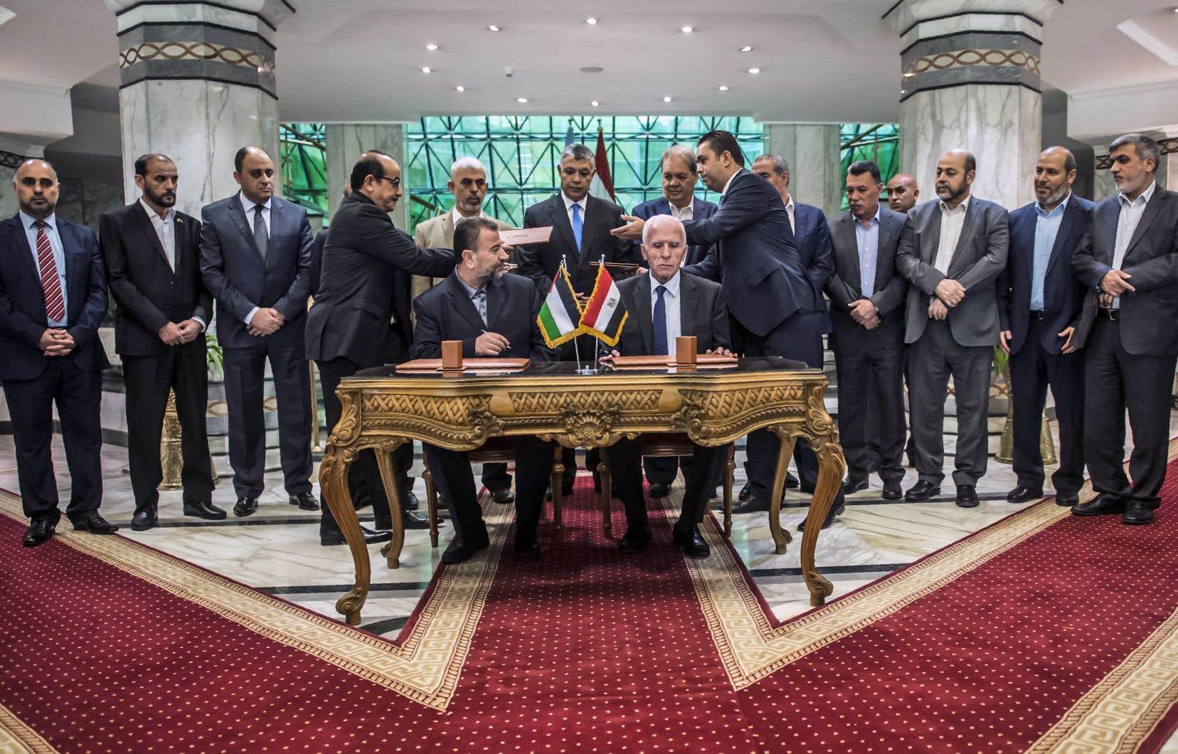 Le Hamas et le Fatah ont annoncé leur accord après deux jours de négociations tenues dans le plus grand secret auCaire.