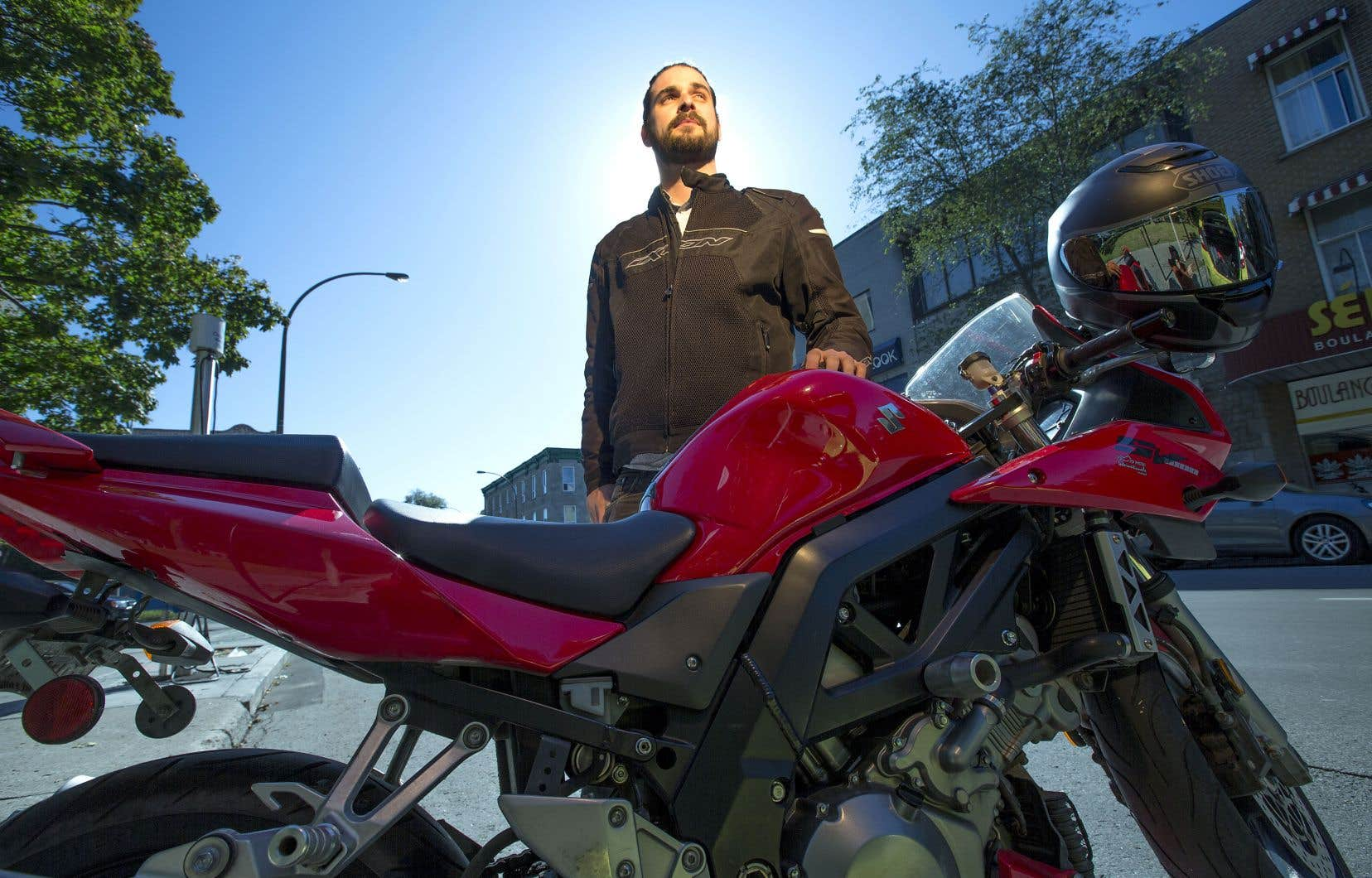 À court terme, l'entreprise RideMetry, cofondée par Marc-André Larin, vise les quelque 175000 motocyclistes québécois.