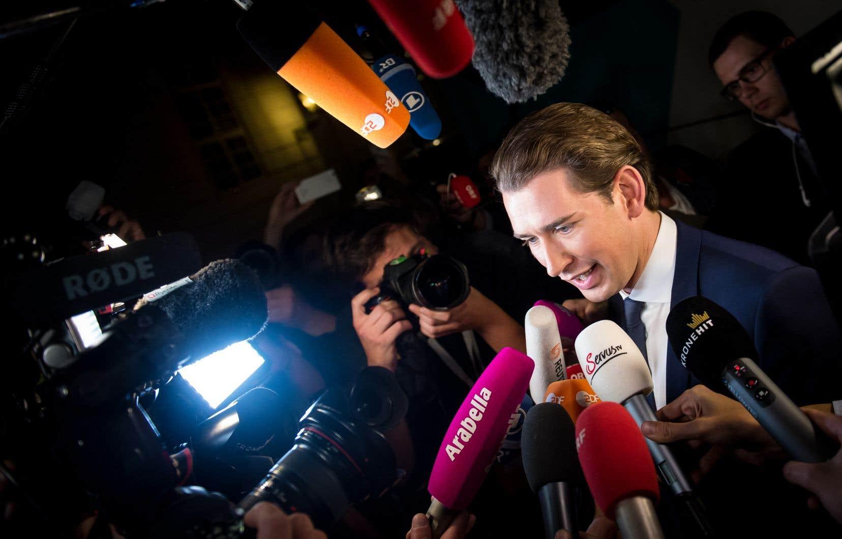 L'ultraconservateur Sebastian Kurz, 31ans, était en voie de devenir dimanche le plus jeune dirigeant d'Europe.
