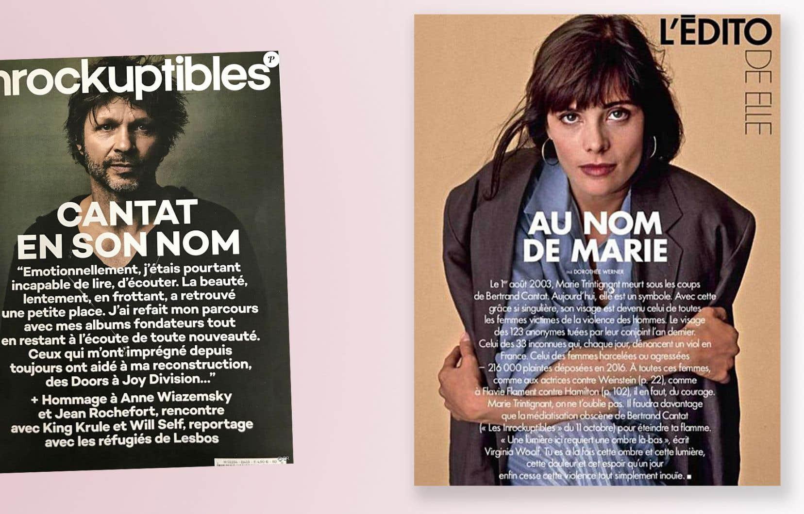 La couverture du magazine «Les Inrockuptibles» qui a déclenché les débats. Et la réplique du «Elle».